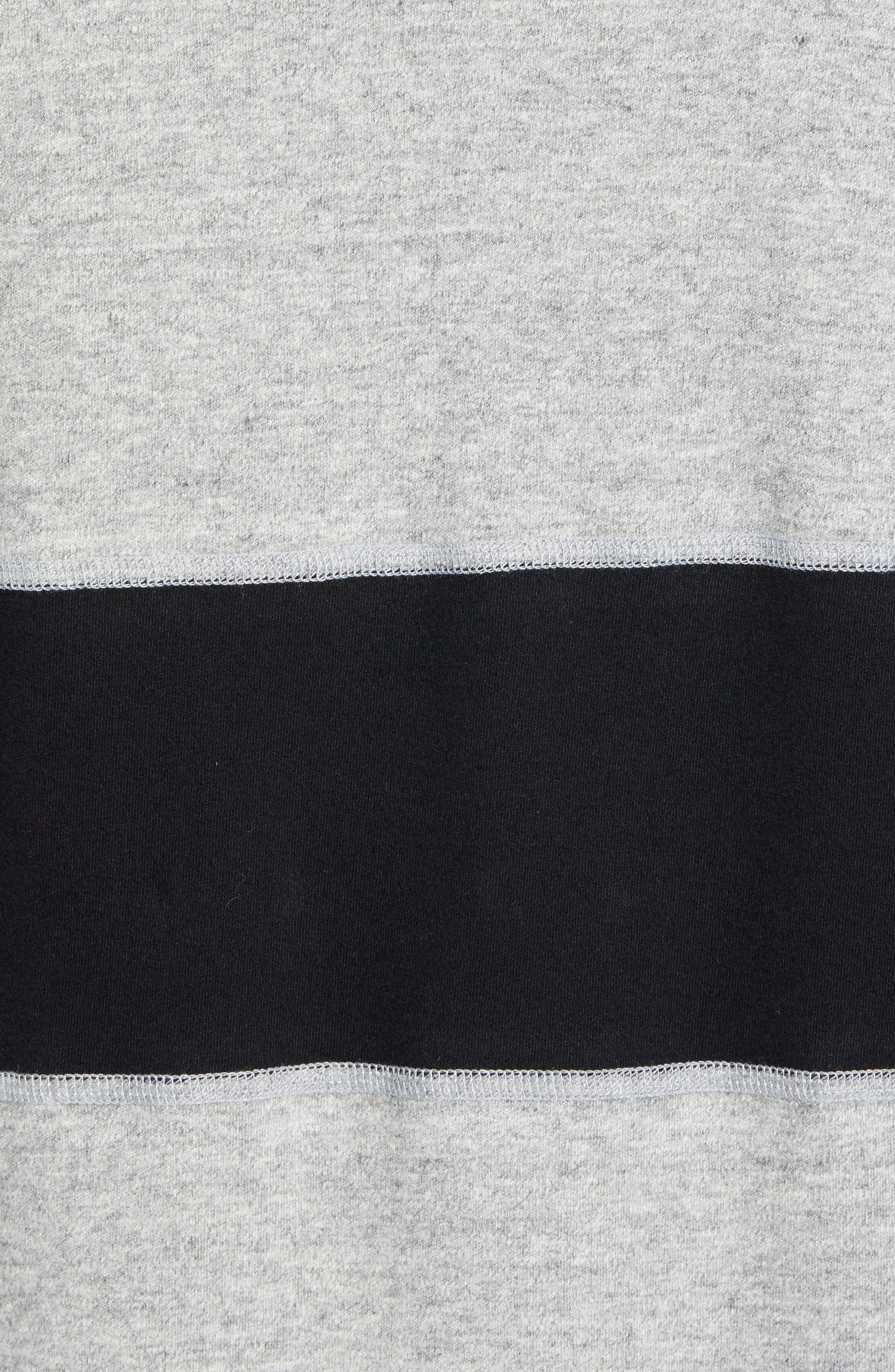 REIGNING CHAMP, Rugby Crewneck Sweatshirt, Alternate thumbnail 5, color, MEDIUM GREY/ BLACK