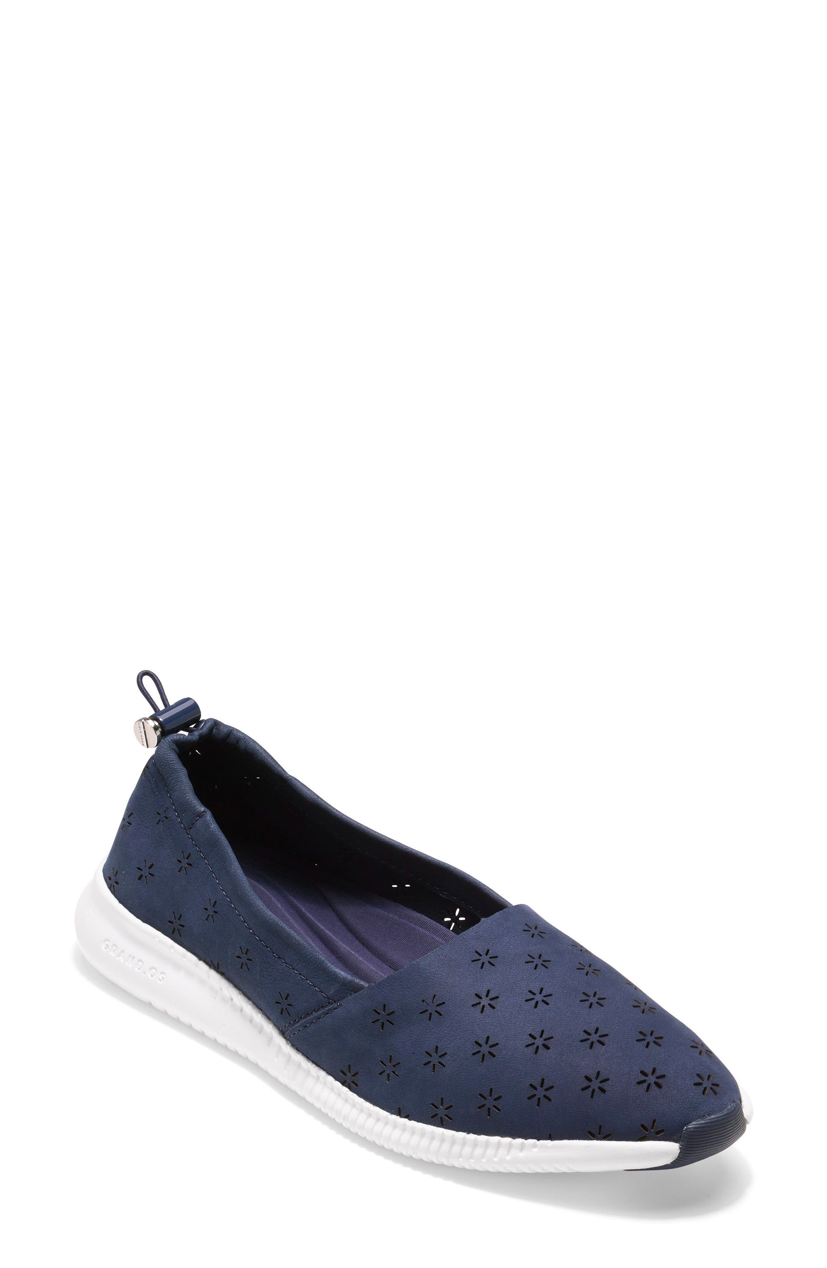 Cole Haan Studiogrand Perforated Slip-On, Blue