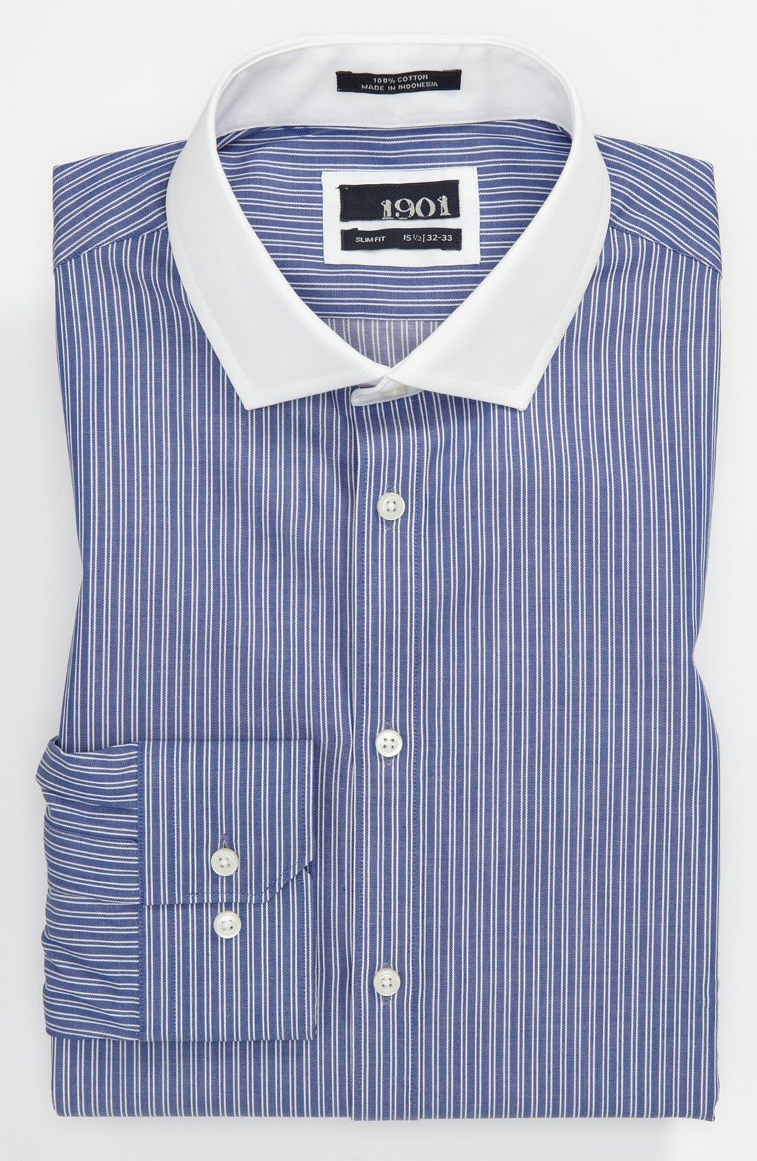 1901, Slim Fit Dress Shirt, Main thumbnail 1, color, 400