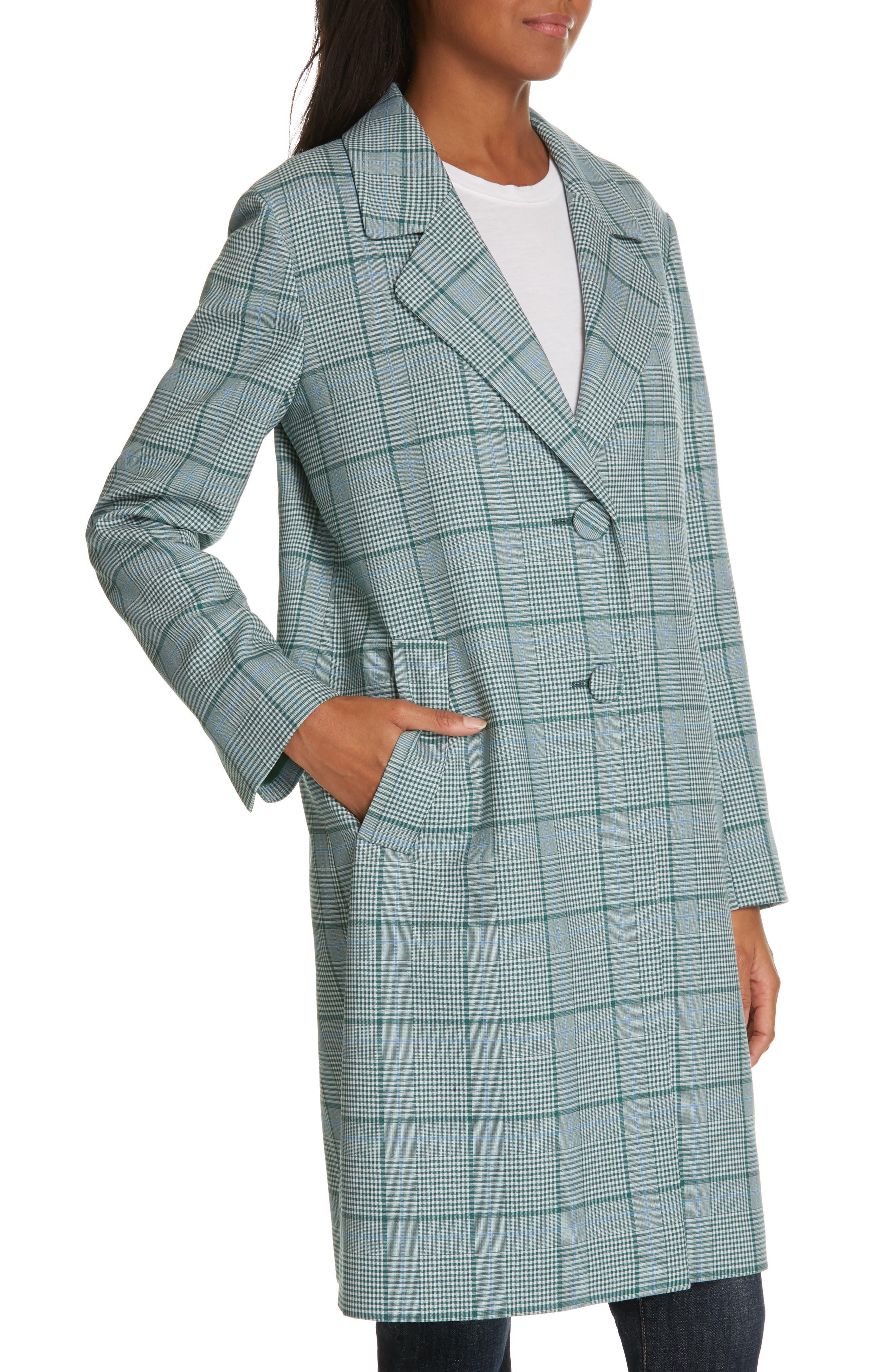 LEWIT, Check Coat, Alternate thumbnail 5, color, 310