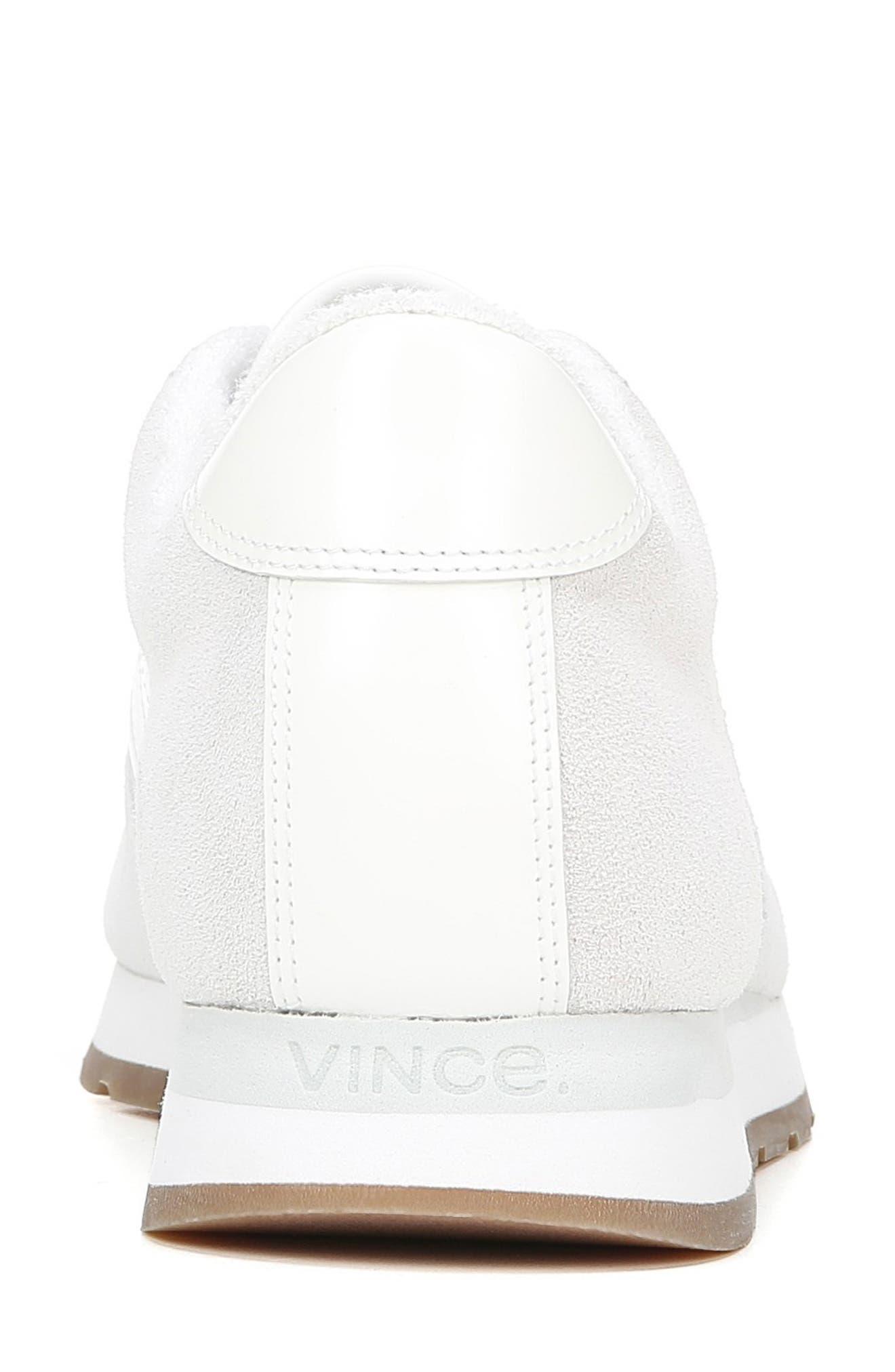 VINCE, Pasha Sneaker, Alternate thumbnail 7, color, WHITE