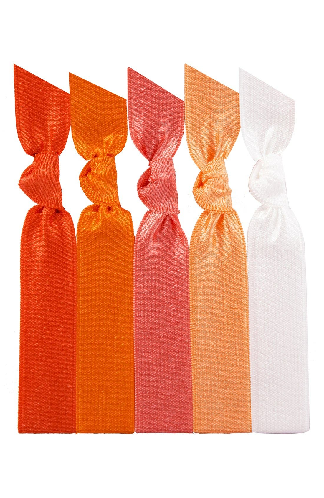 EMI-JAY, 'Orange Ombré' Hair Ties, Main thumbnail 1, color, 000