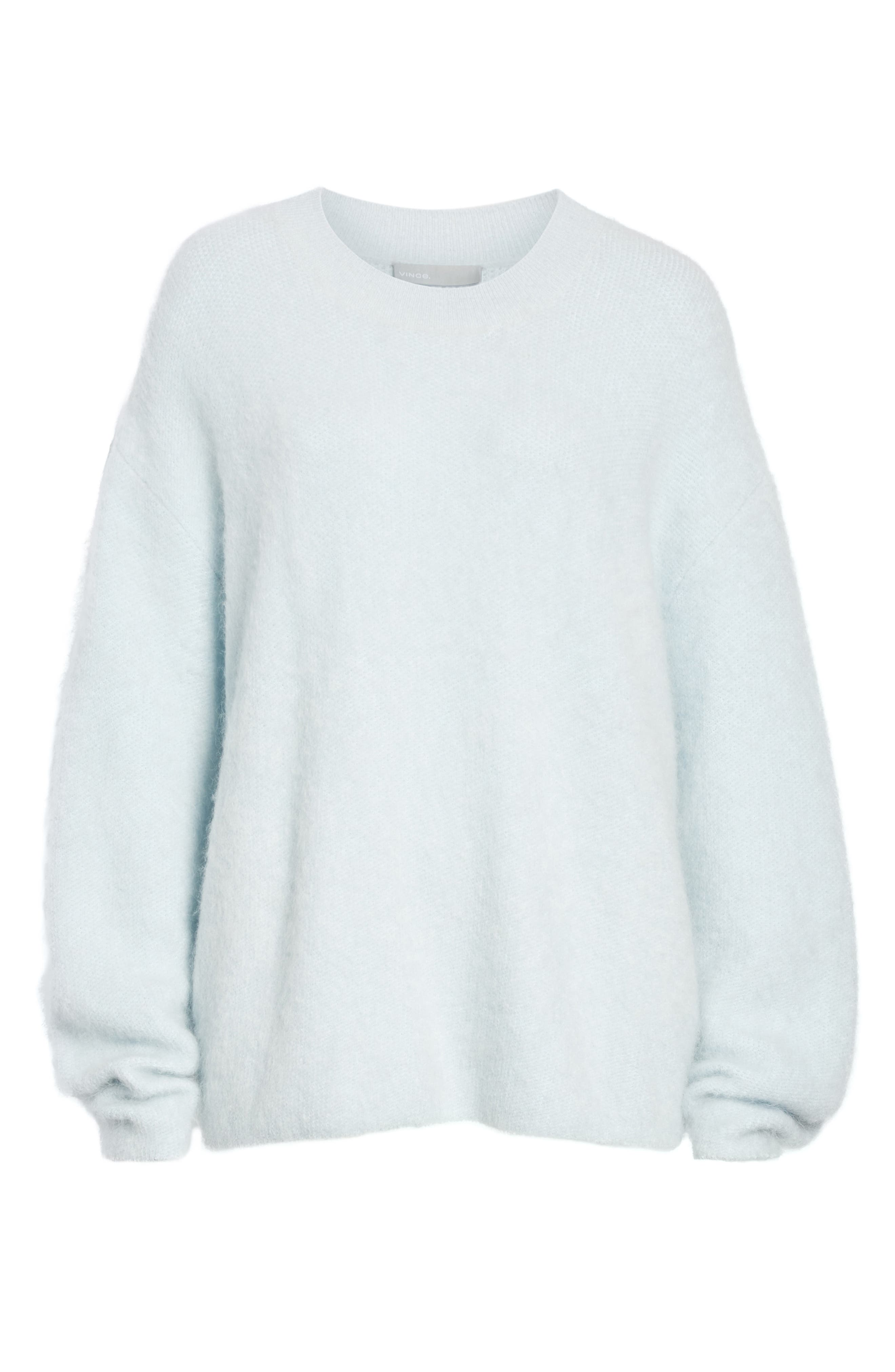 VINCE, Oversize Sweater, Alternate thumbnail 6, color, ICE/ BLUE