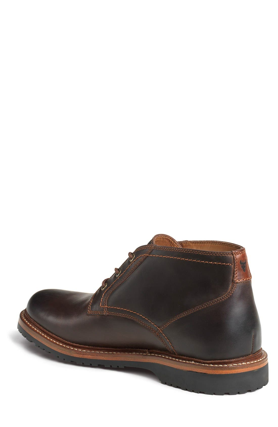 TRASK, Arlington Chukka Boot, Alternate thumbnail 6, color, BROWN