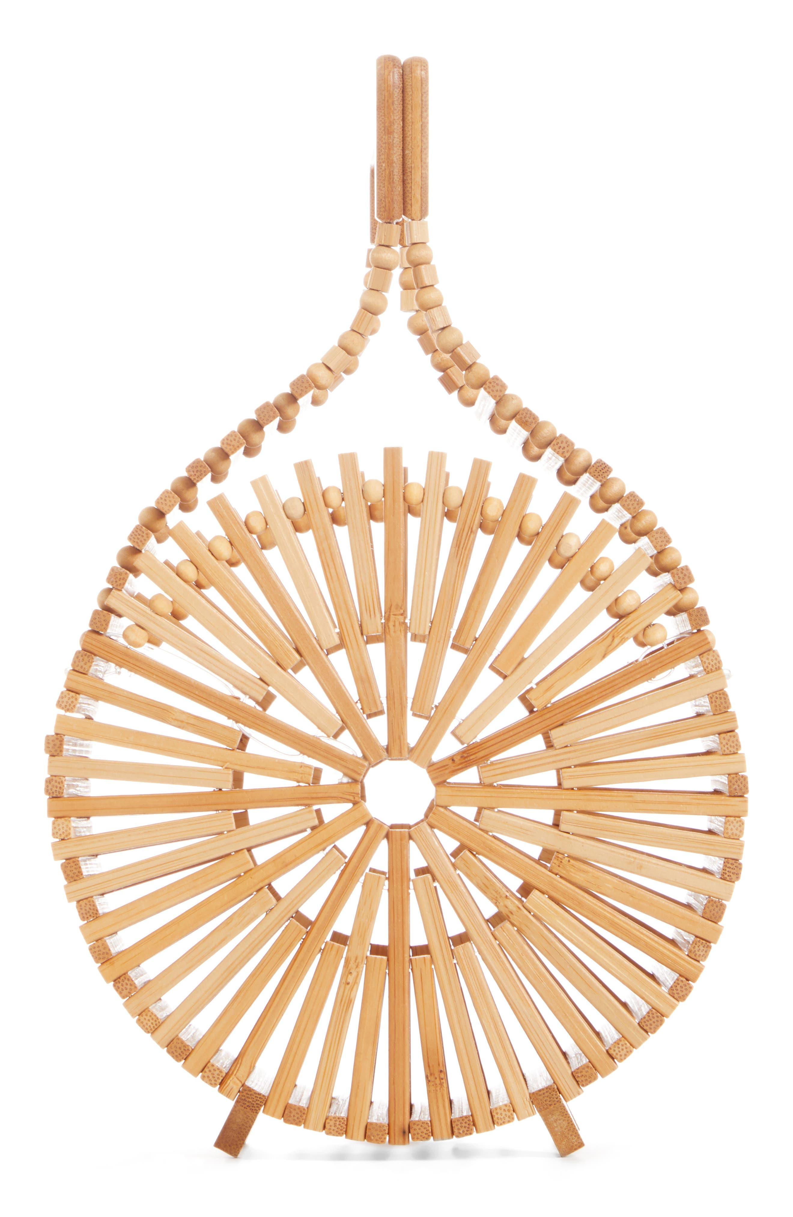 CULT GAIA Zaha Top Handle Bamboo Bag, Main, color, TAN NATURAL