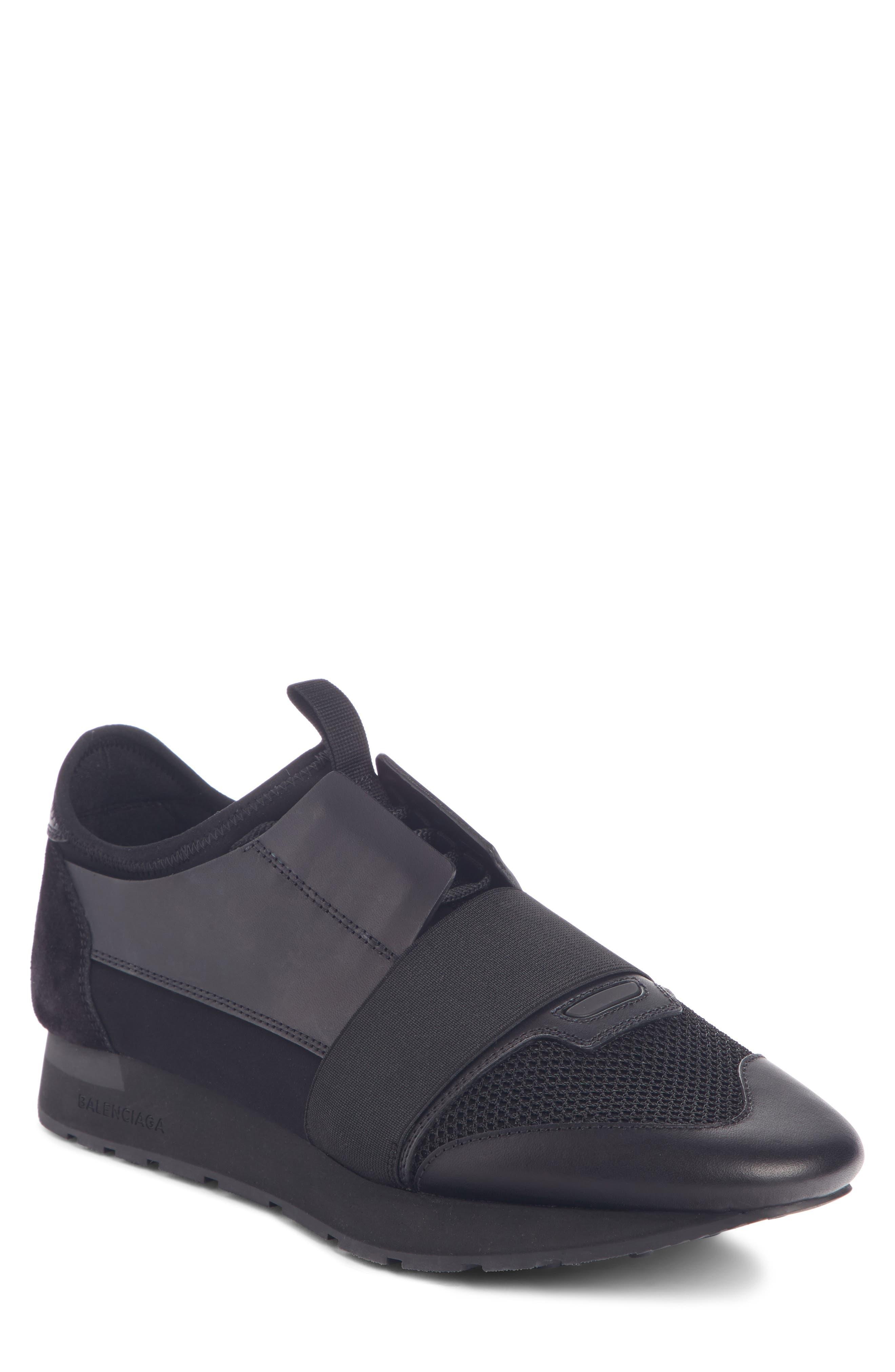 BALENCIAGA Race Runner Sneaker, Main, color, BLACK/ BLACK/ BLACK
