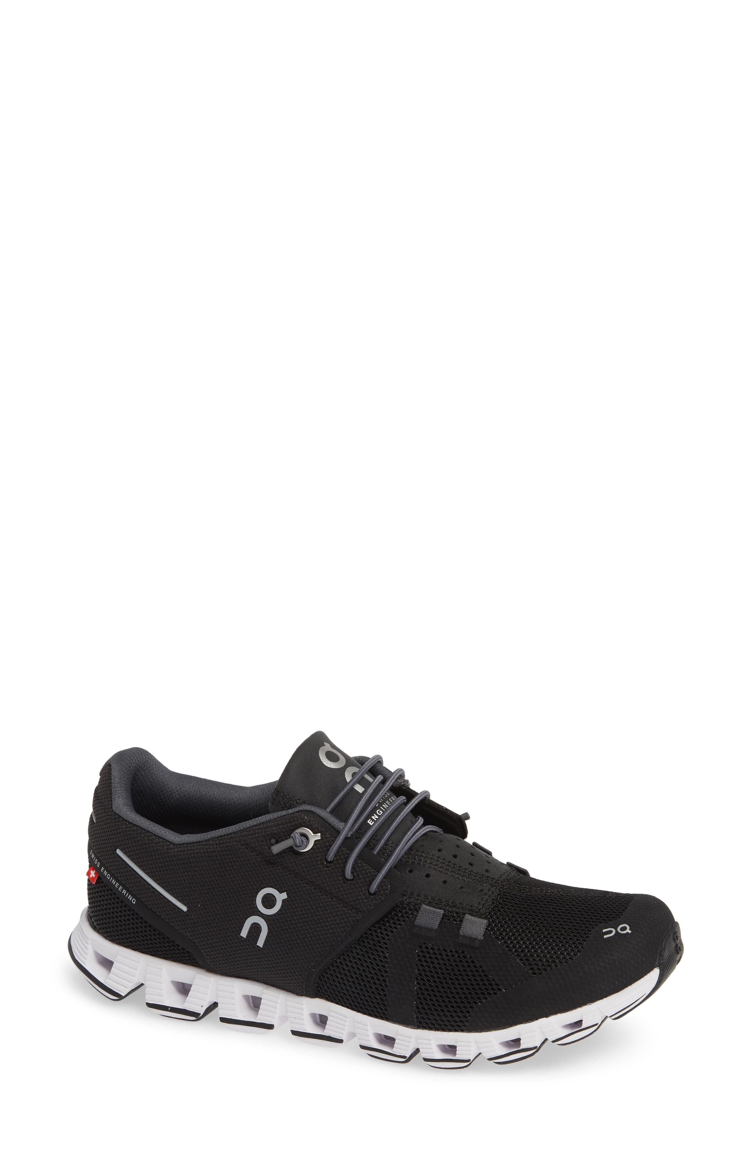 ON RUNNING Cloud Running Shoe, Main, color, BLACK/ WHITE