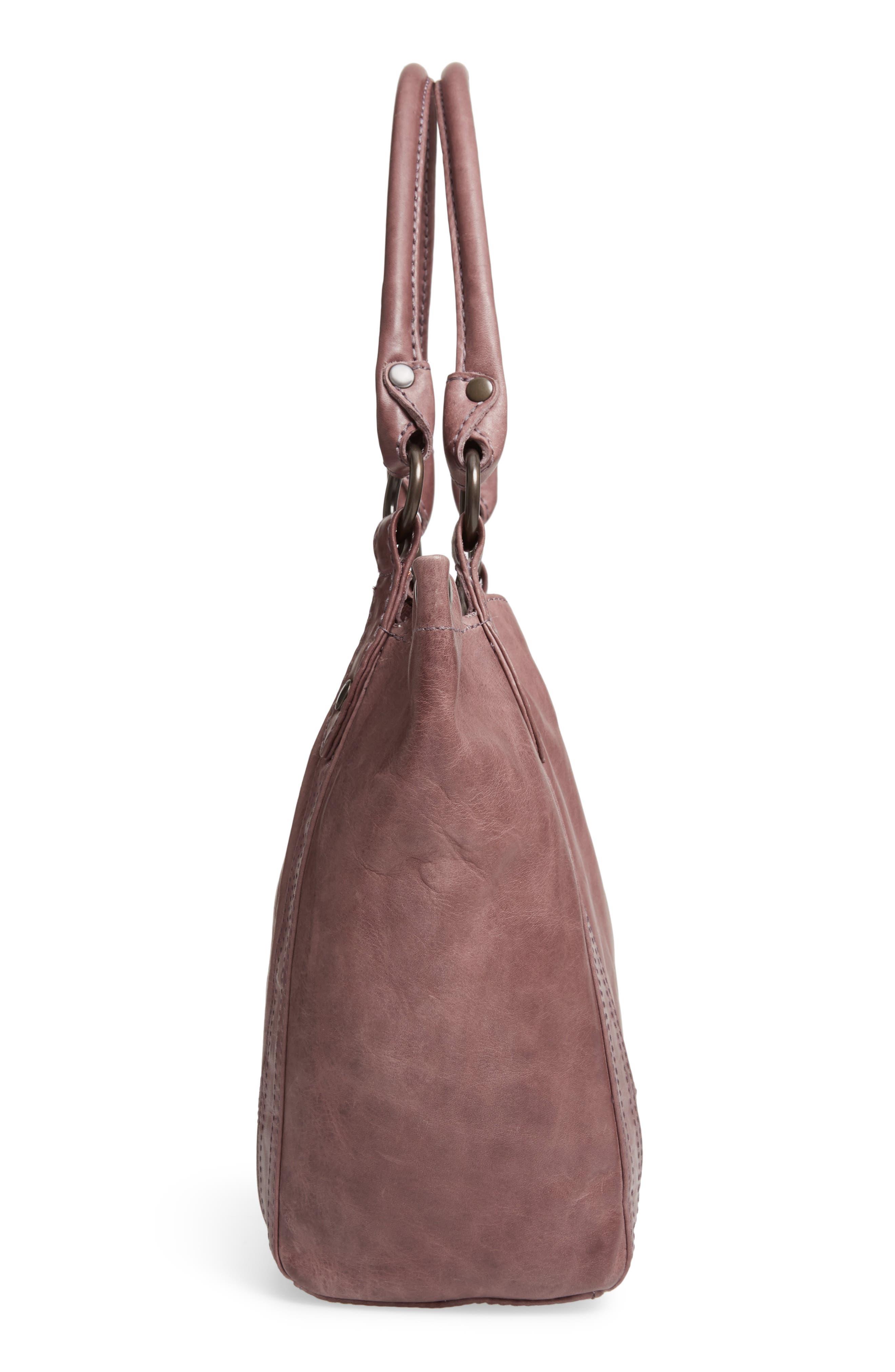 FRYE, Melissa Leather Shoulder Bag, Alternate thumbnail 6, color, LILAC