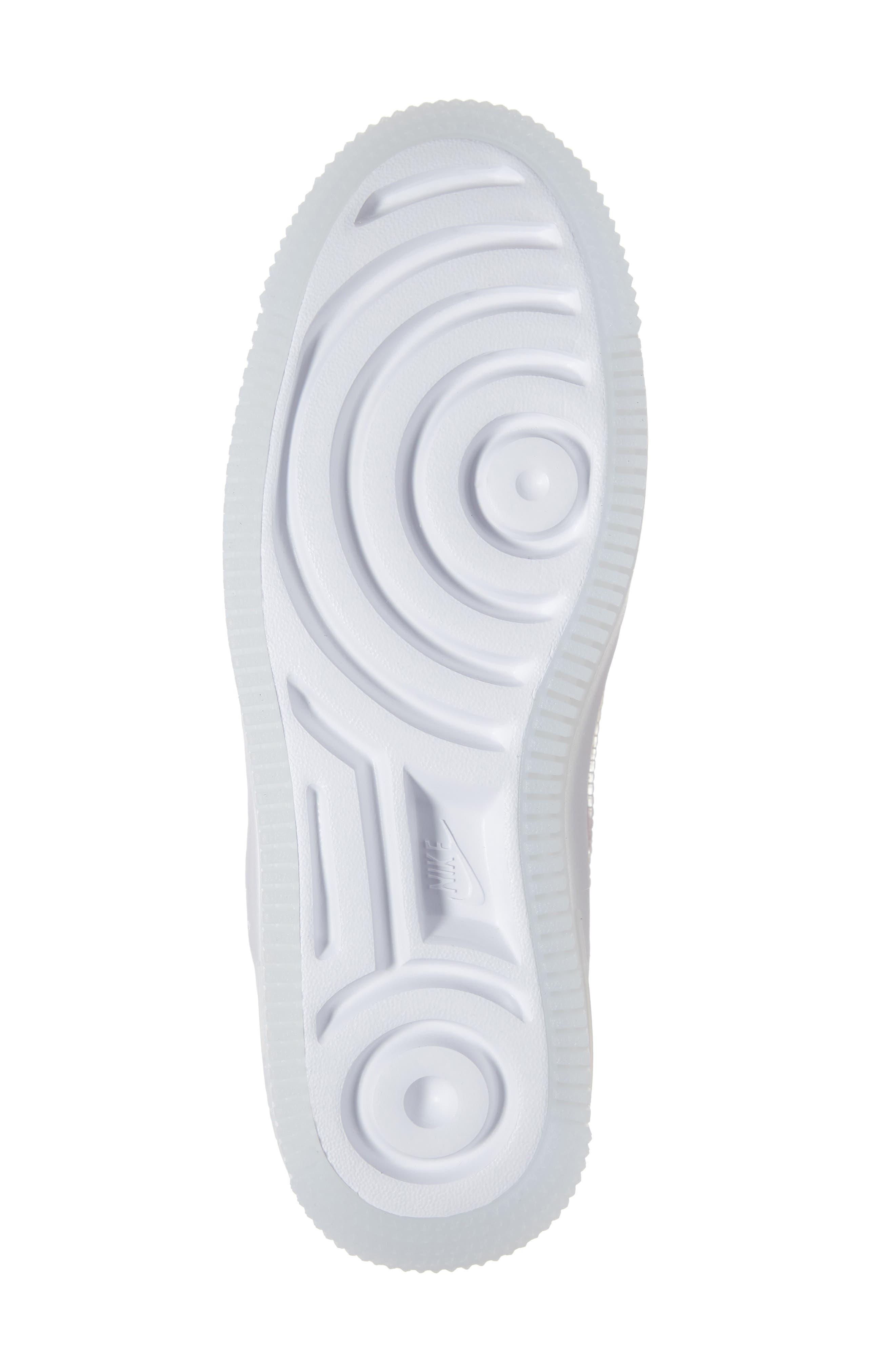 NIKE, Air Force 1 Sage Low Platform Sneaker, Alternate thumbnail 6, color, VIOLET MIST/ VIOLET MIST