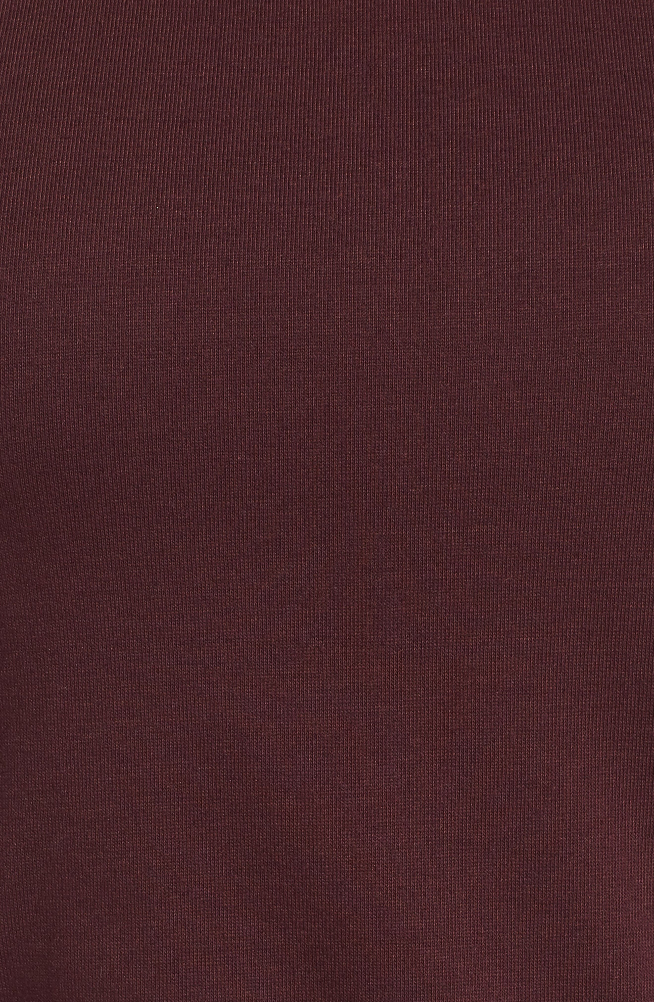 CHELSEA28, Twist Front Dress, Alternate thumbnail 6, color, BURGUNDY STEM