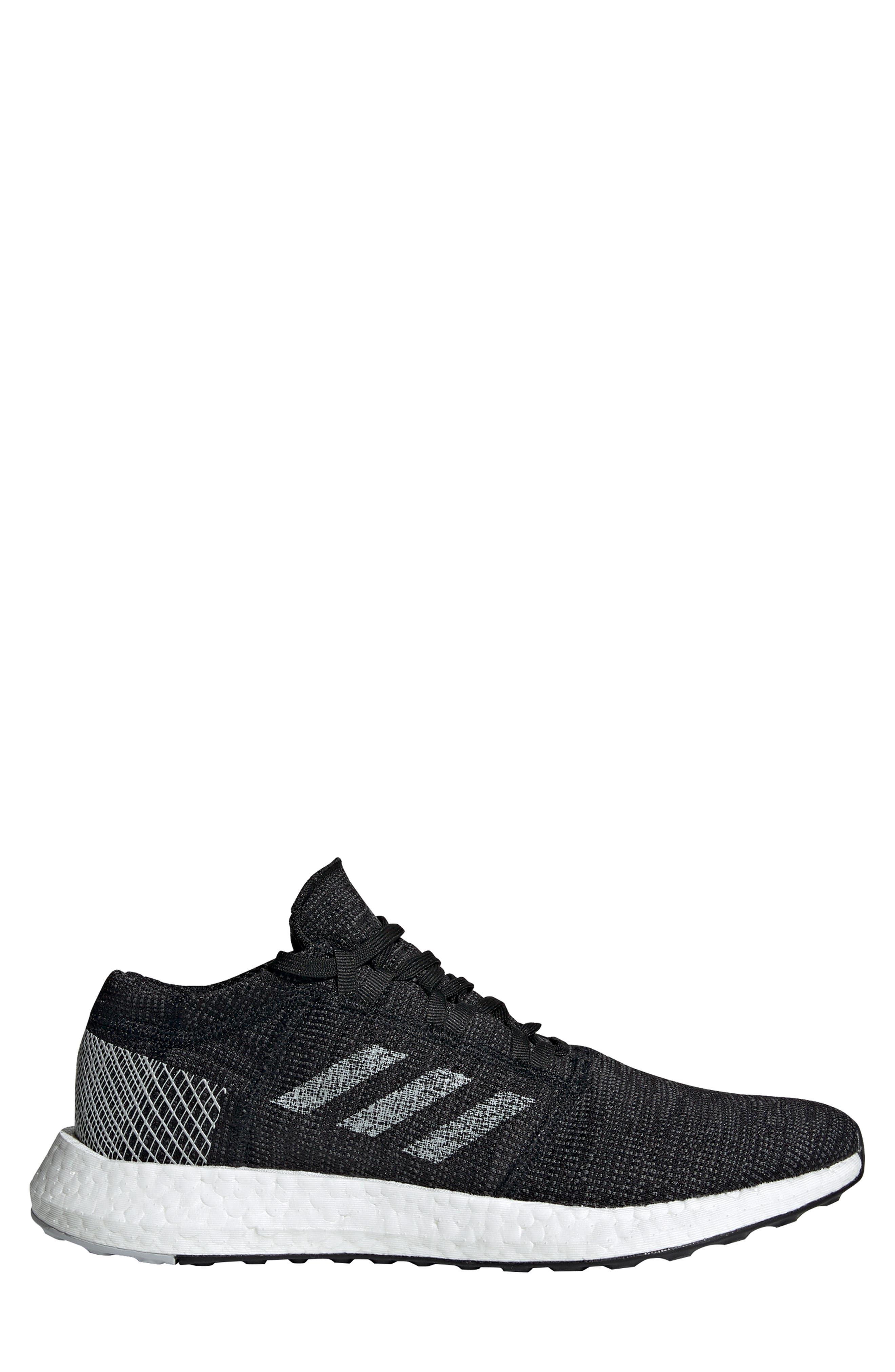 ADIDAS, PureBoost Go Running Shoe, Alternate thumbnail 3, color, CORE BLACK/ GREY