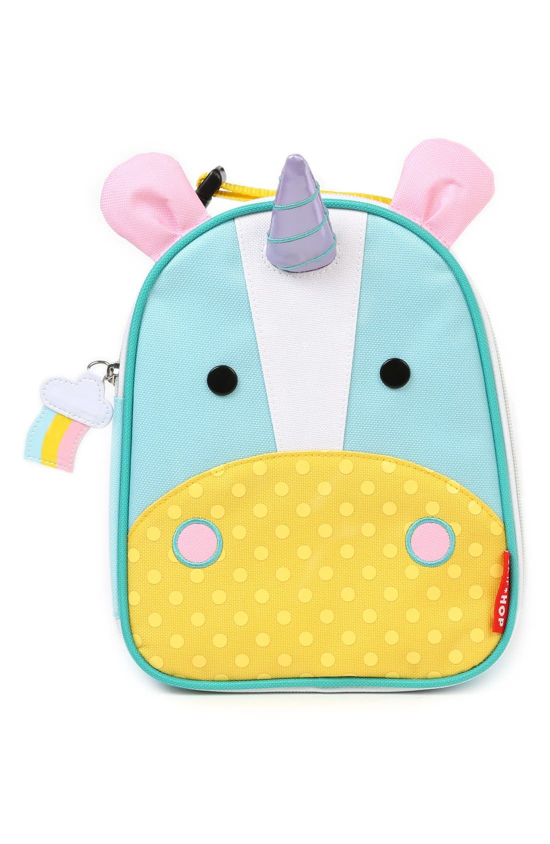 SKIP HOP, 'Zoo Lunchie - Unicorn' Insulated Lunch Bag, Main thumbnail 1, color, UNICORN