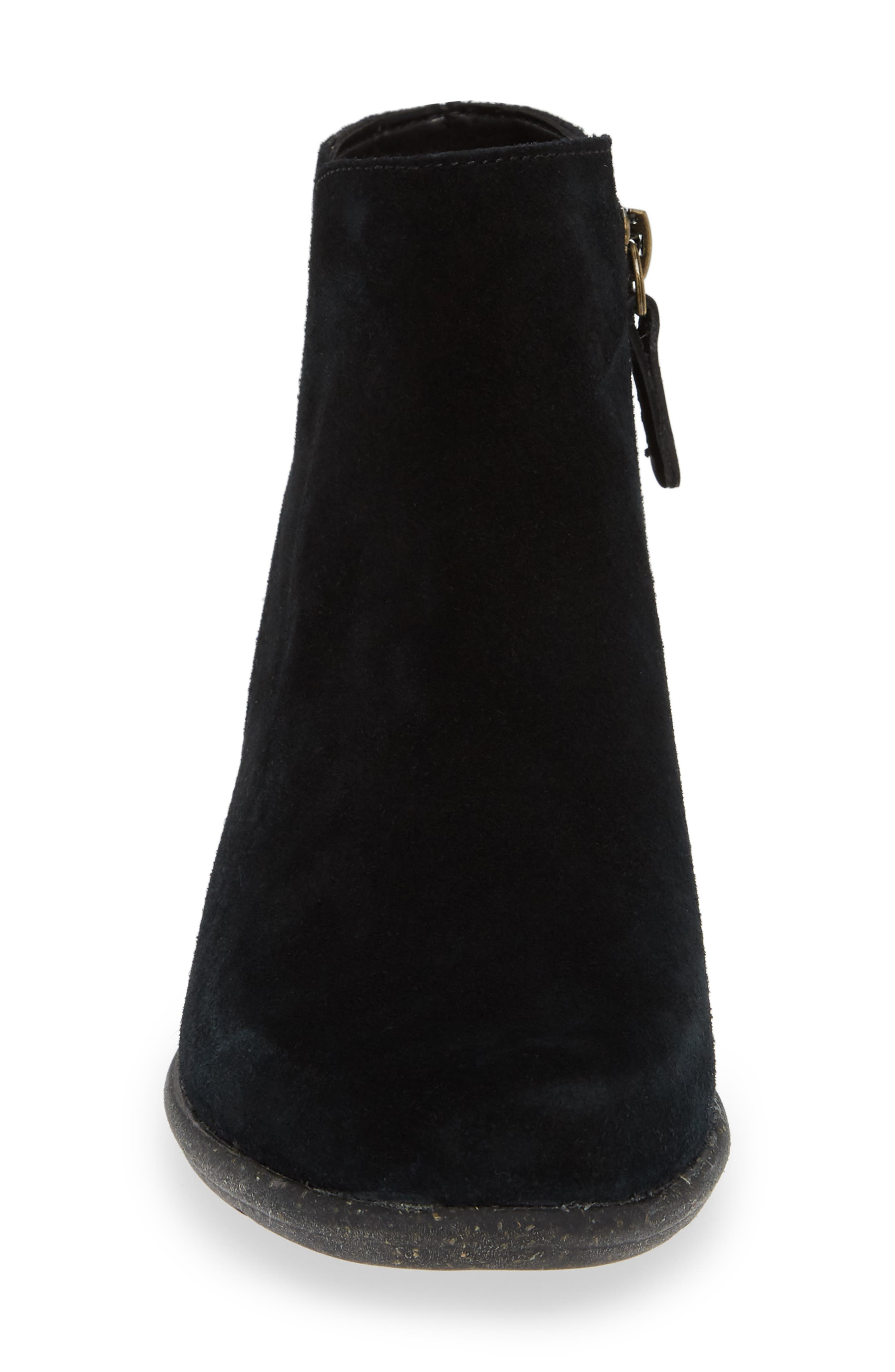 CLARKS<SUP>®</SUP>, Wilrose Frost Bootie, Alternate thumbnail 4, color, BLACK SUEDE