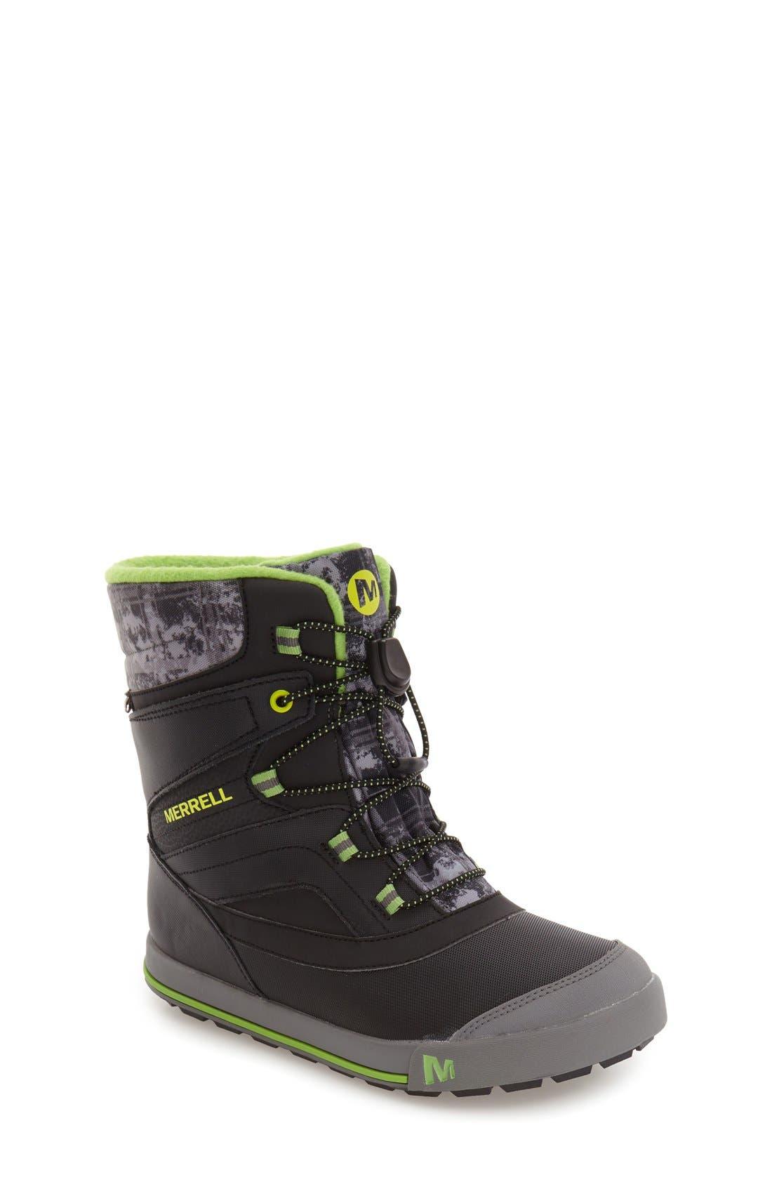 MERRELL, 'Snow Bank 2' Waterproof Boot, Main thumbnail 1, color, 001