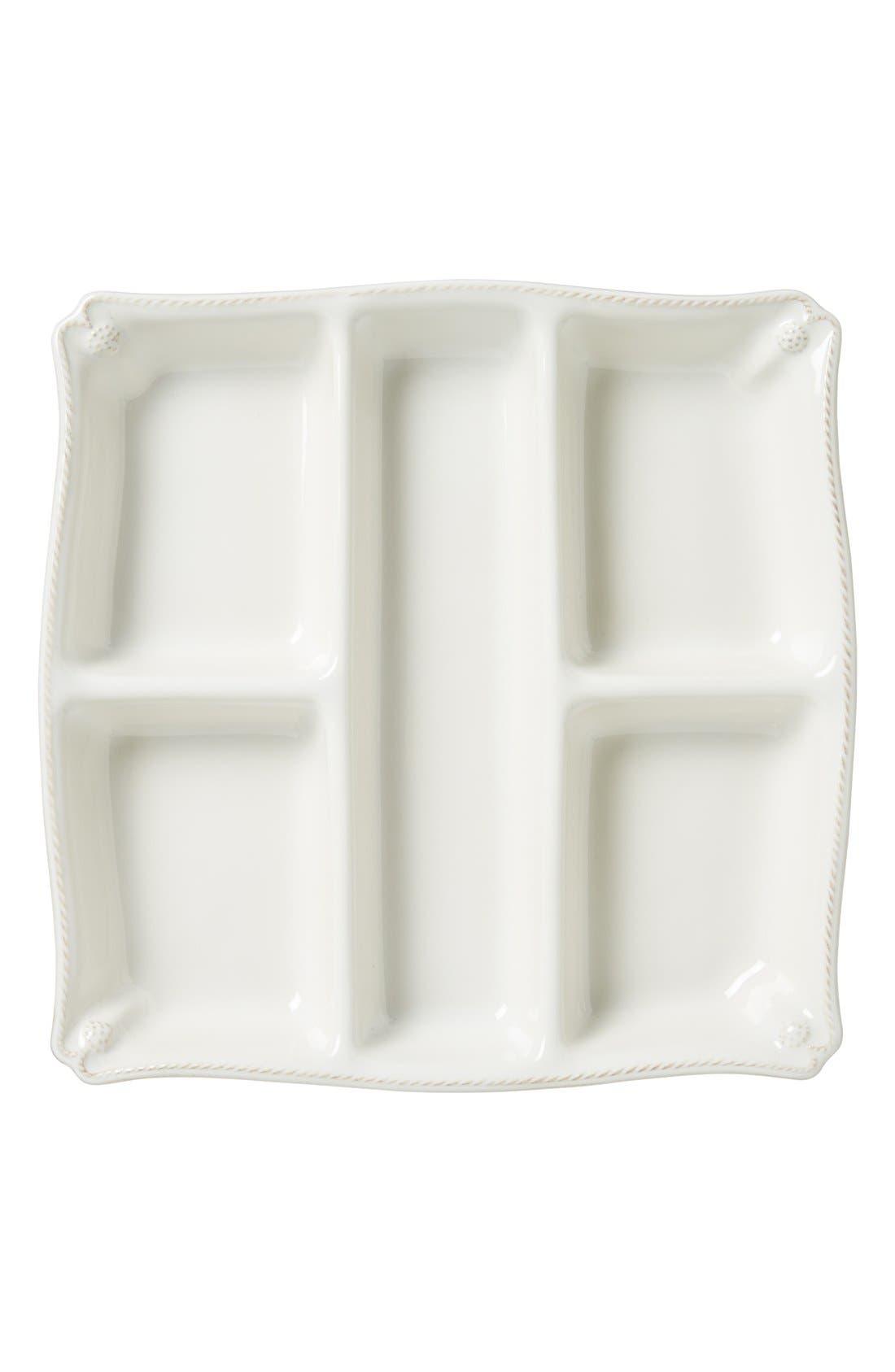 JULISKA, 'Berry and Thread' Ceramic Appetizer Platter, Main thumbnail 1, color, WHITEWASH