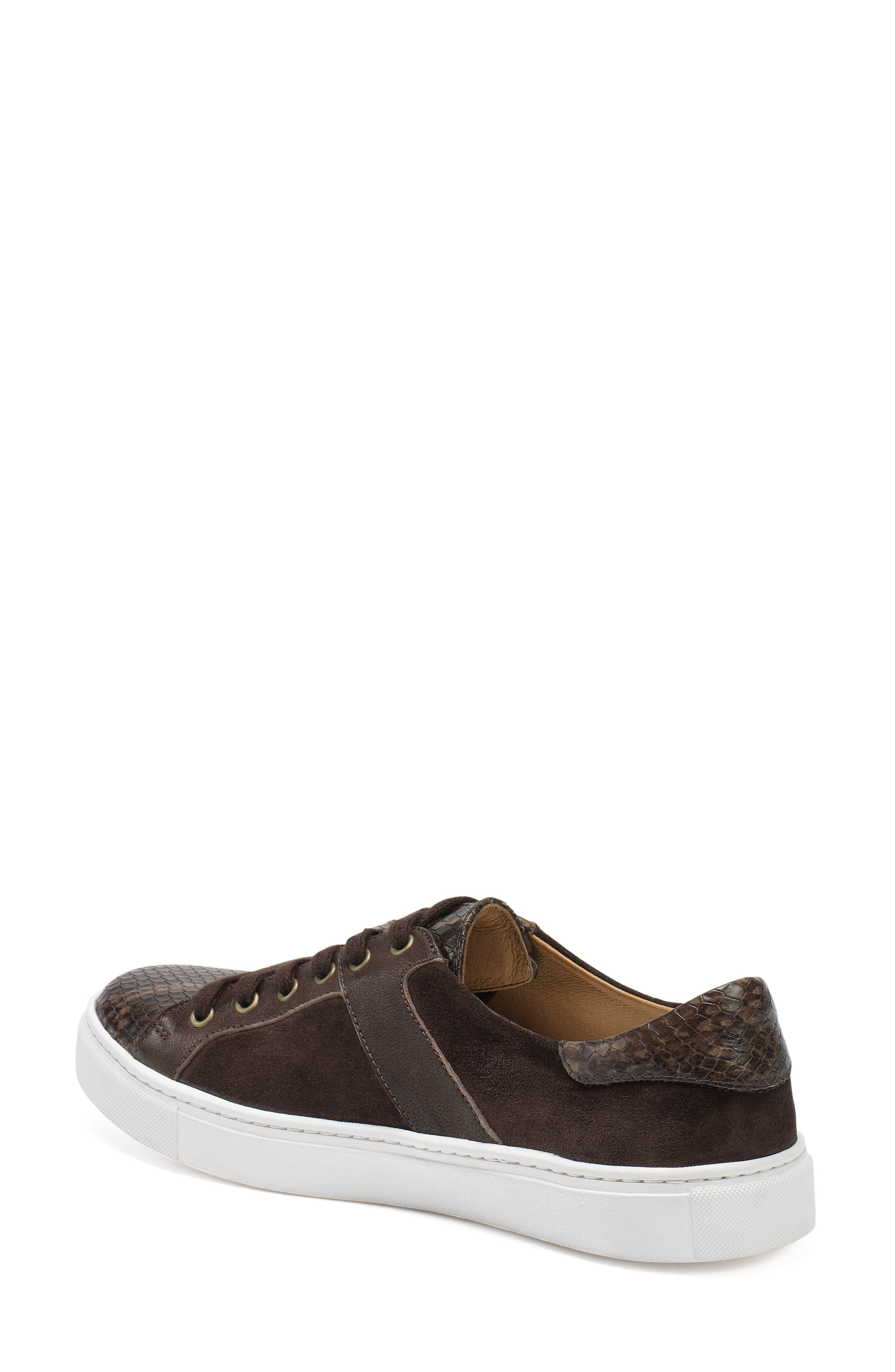 TRASK, Lindsey Sneaker, Alternate thumbnail 2, color, BROWN PRINT LEATHER