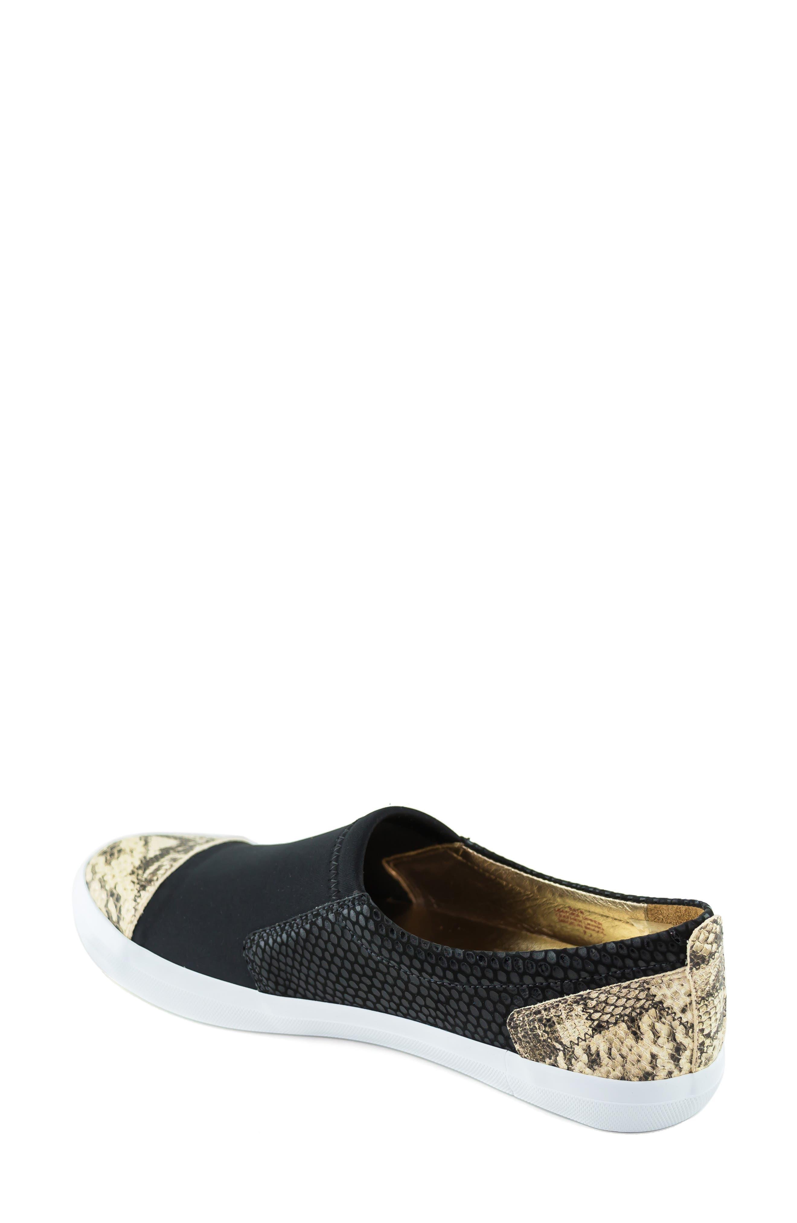 MARC JOSEPH NEW YORK, Jay Street Sneaker, Alternate thumbnail 2, color, BLACK PATCHWORK