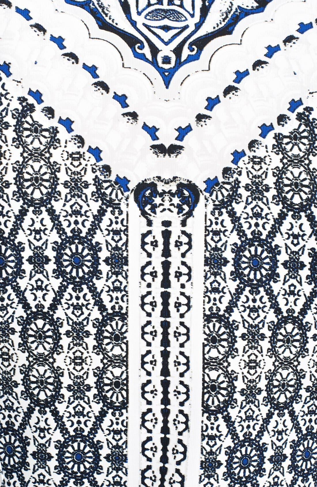 ROBERTO CAVALLI, Print Fit & Flare Dress, Alternate thumbnail 2, color, 400