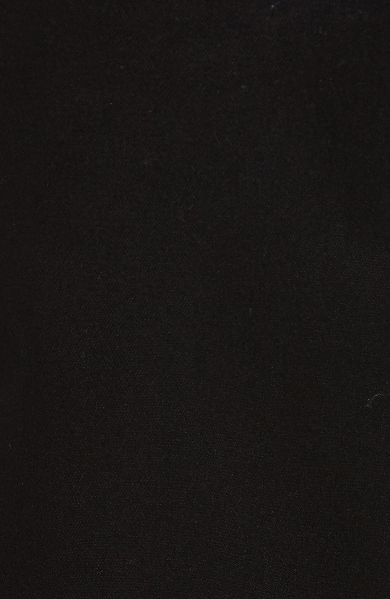 NORDSTROM MEN'S SHOP, Smartcare<sup>™</sup> Flat Front Shorts, Alternate thumbnail 5, color, BLACK