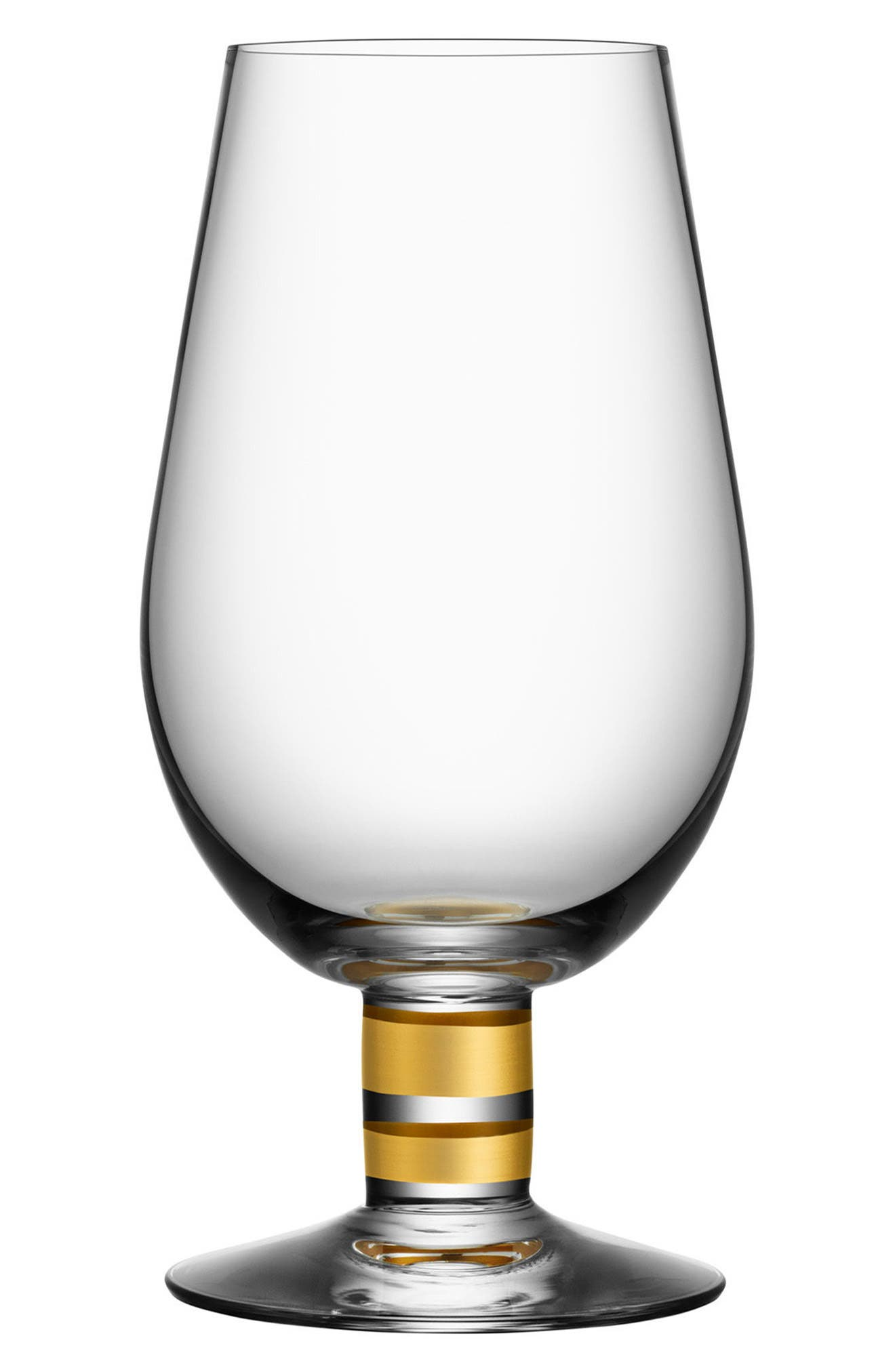 ORREFORS, Morberg Collection Set of 2 Footed Crystal Beer Glasses, Main thumbnail 1, color, CLEAR