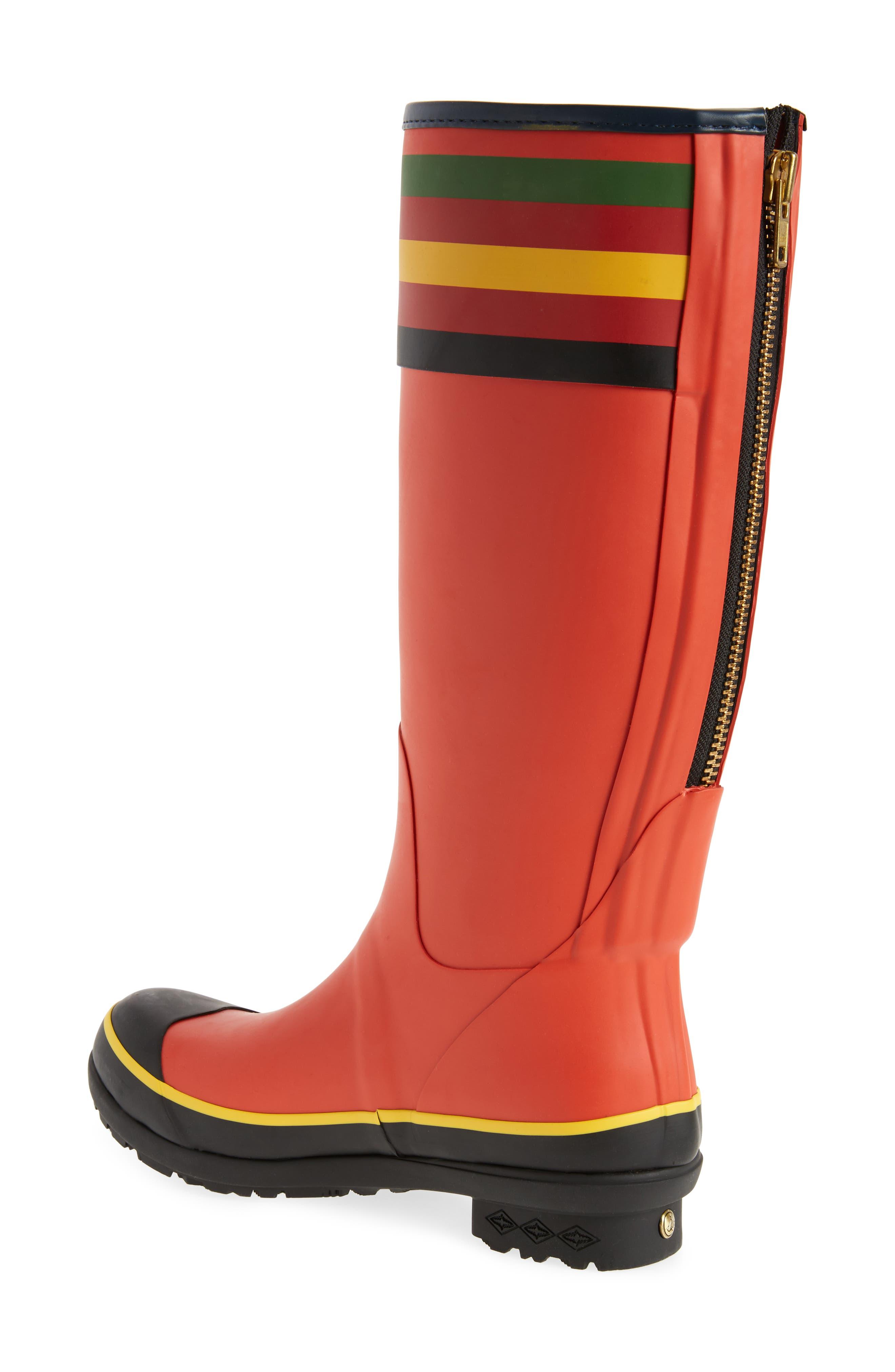 PENDLETON, Rainier National Park Tall Rain Boot, Alternate thumbnail 2, color, RED