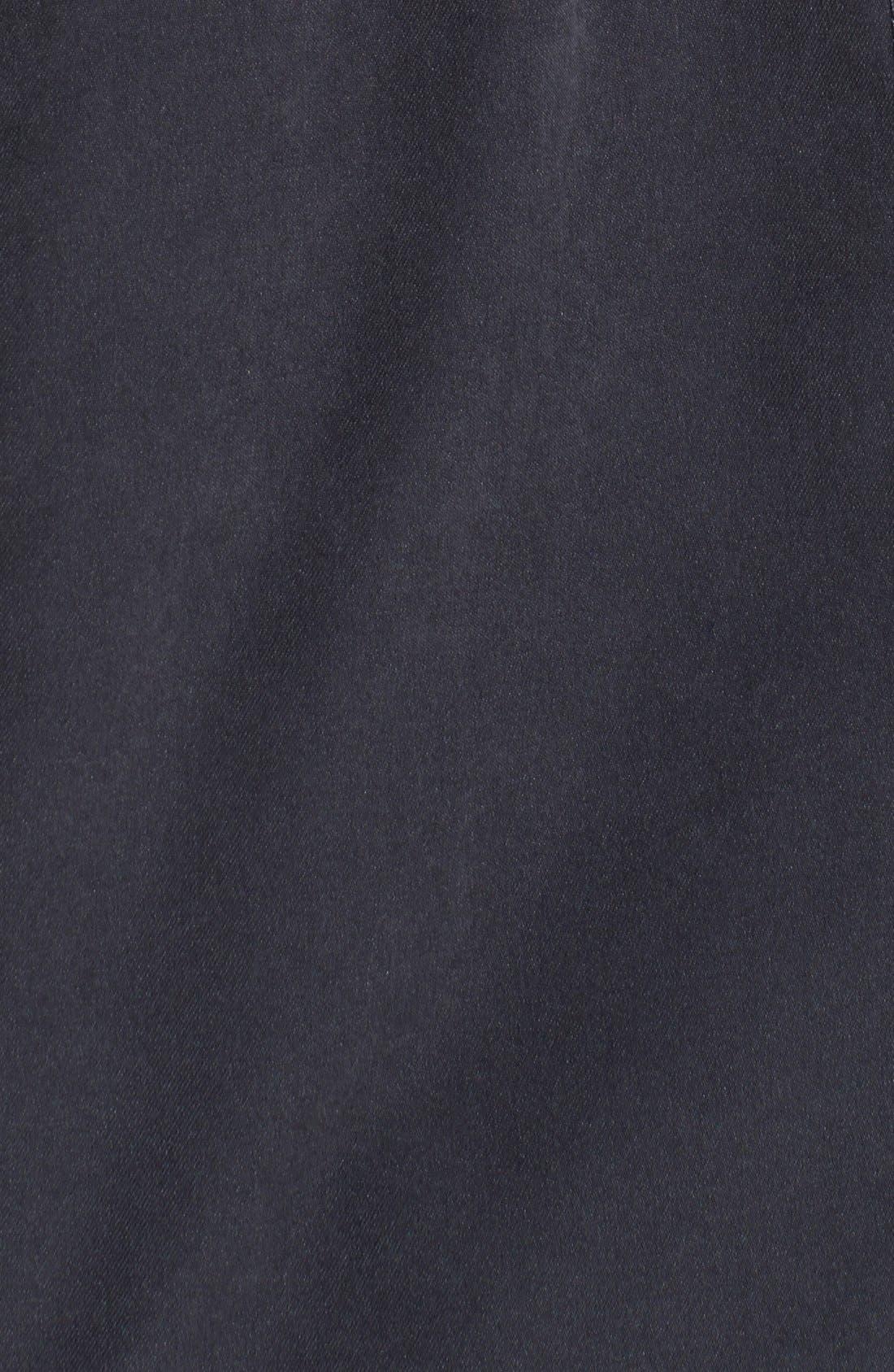 DKNY, Faux Fur Trim Anorak, Alternate thumbnail 2, color, 001