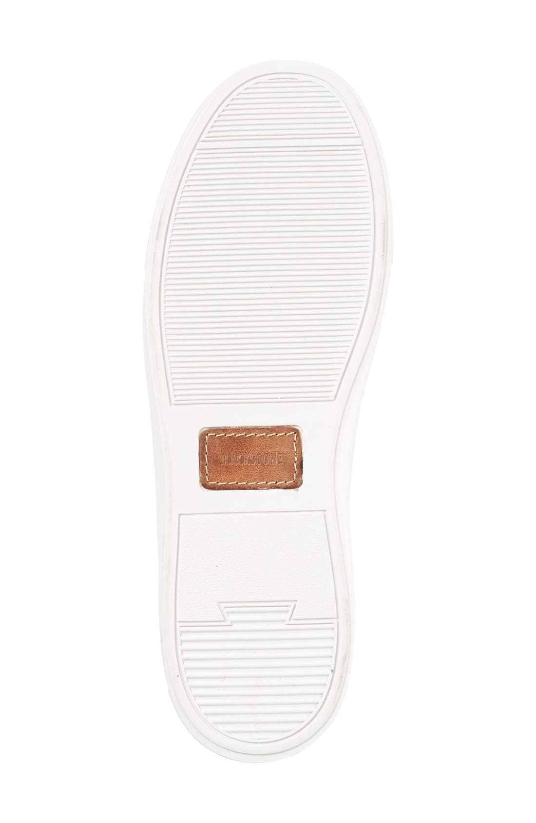 BLACKSTONE, 'LL60' Midi Sneaker, Alternate thumbnail 4, color, WHITE LEATHER