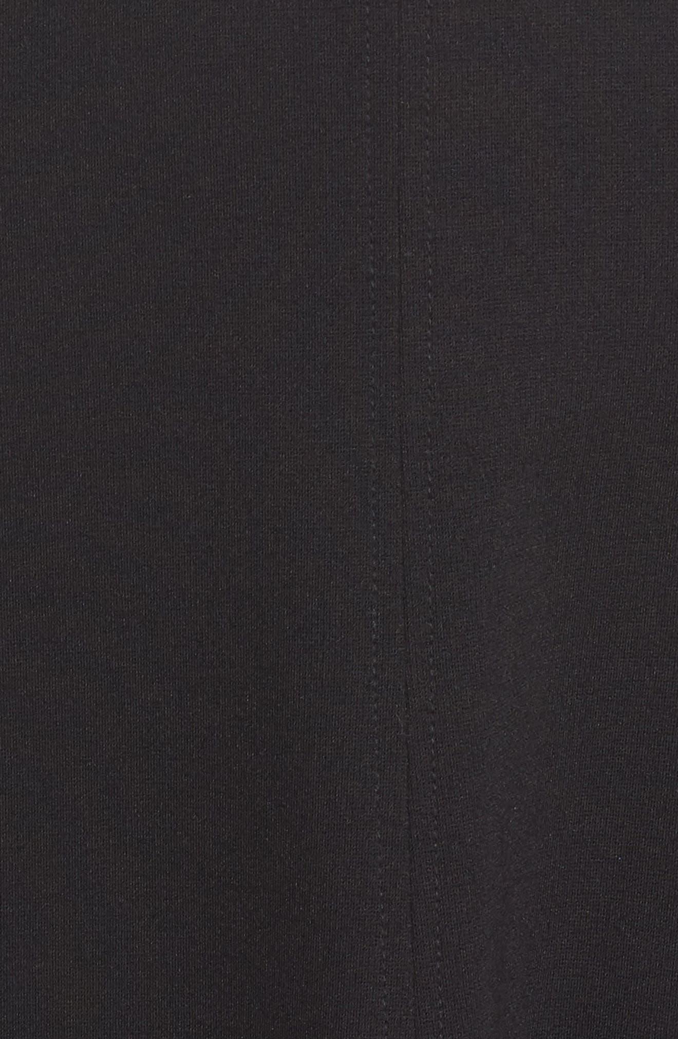 ELIZA J, Seamed Fit & Flare Dress, Alternate thumbnail 6, color, BLACK