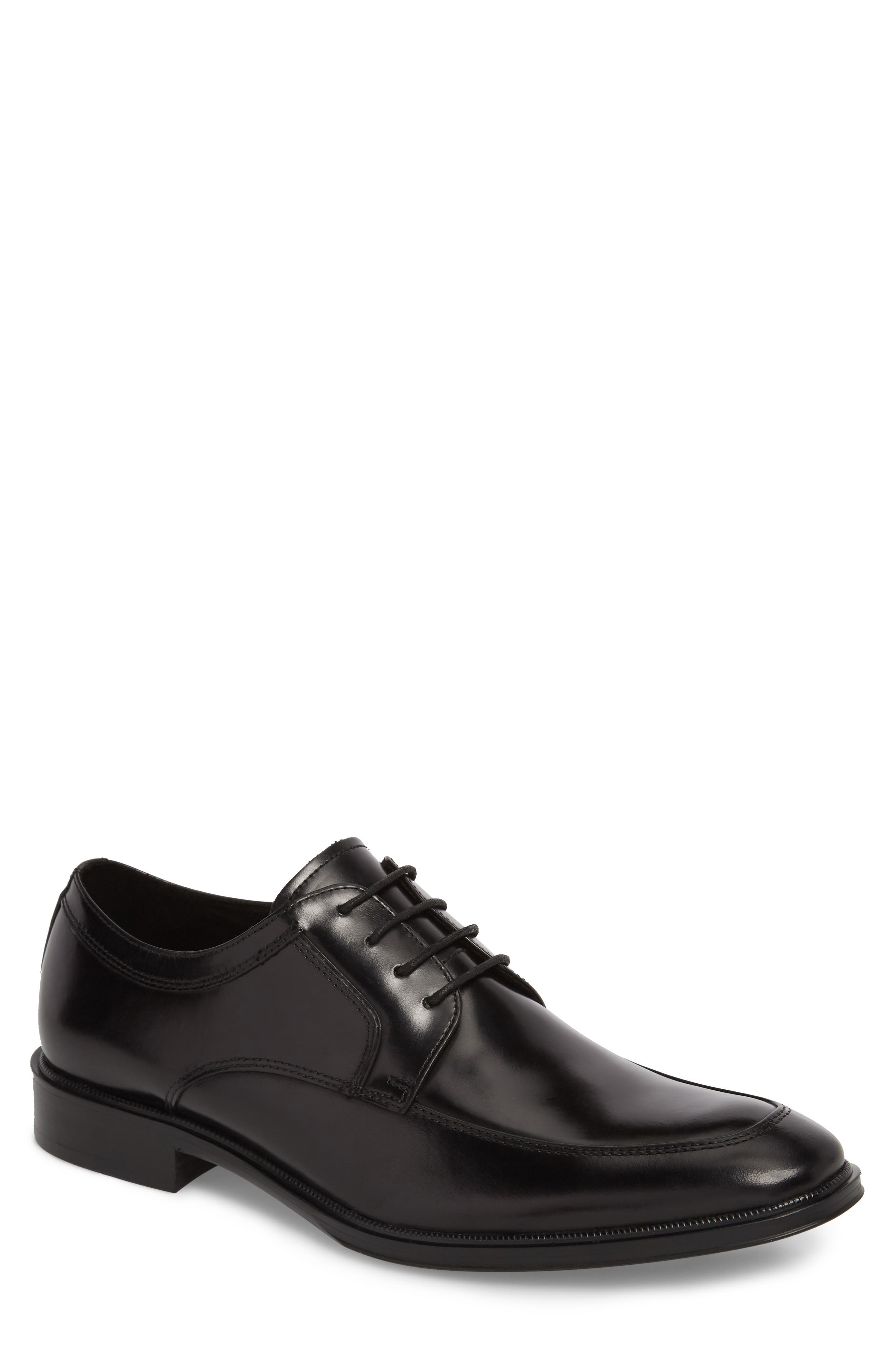 KENNETH COLE NEW YORK, Tully Apron Toe Derby, Main thumbnail 1, color, BLACK LEATHER