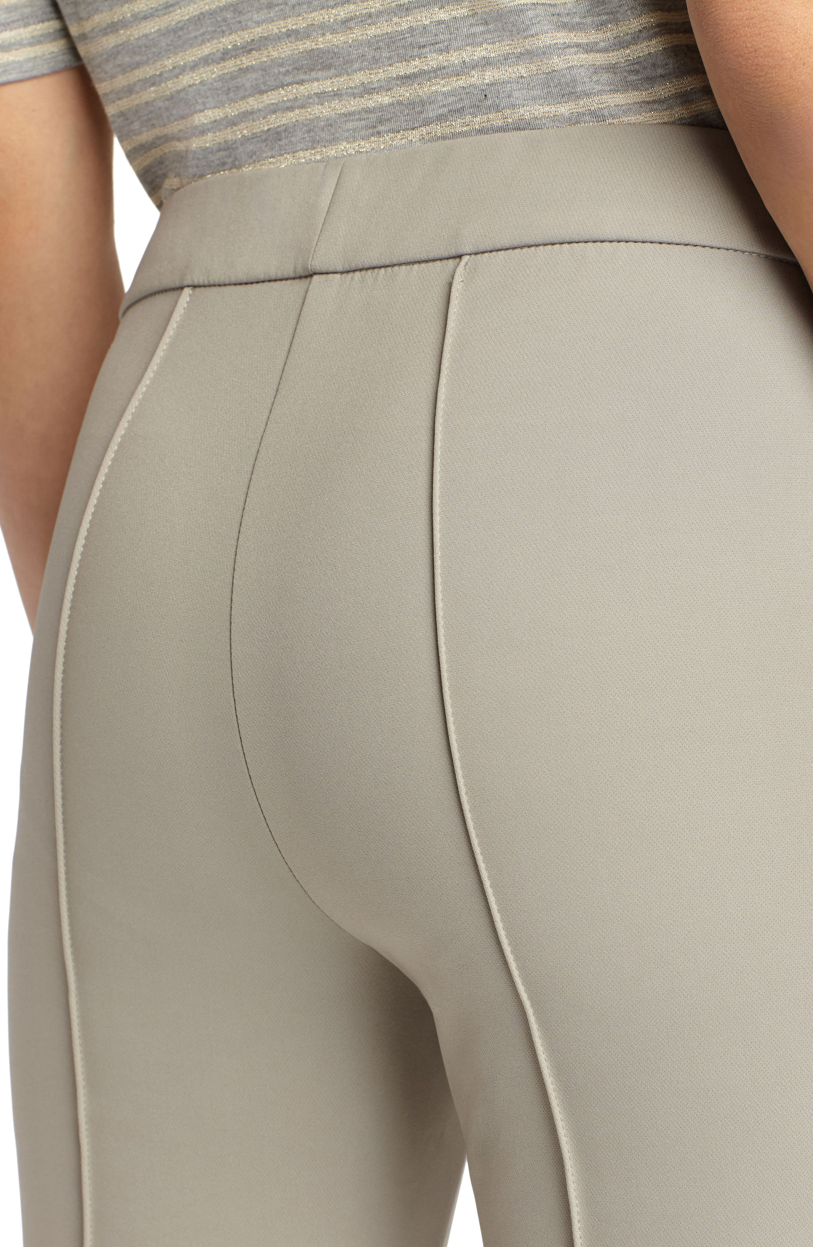 LAFAYETTE 148 NEW YORK, 'Gramercy' Acclaimed Stretch Pants, Alternate thumbnail 6, color, PARTRIDGE