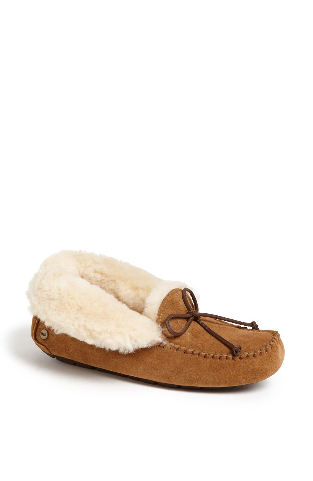 UGG<SUP>®</SUP>, UGGpure<sup>™</sup> Alena Suede Slipper Bootie, Alternate thumbnail 2, color, CHESTNUT