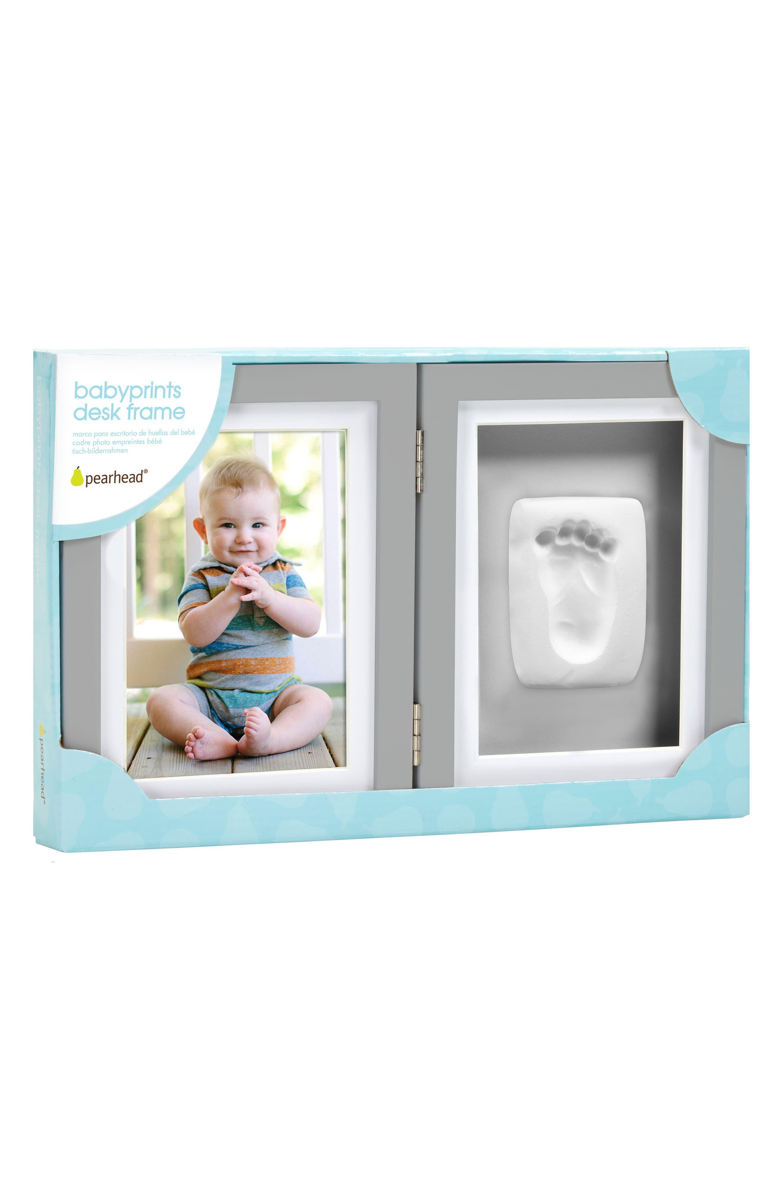 PEARHEAD, Babyprints Desk Frame, Alternate thumbnail 2, color, GREY