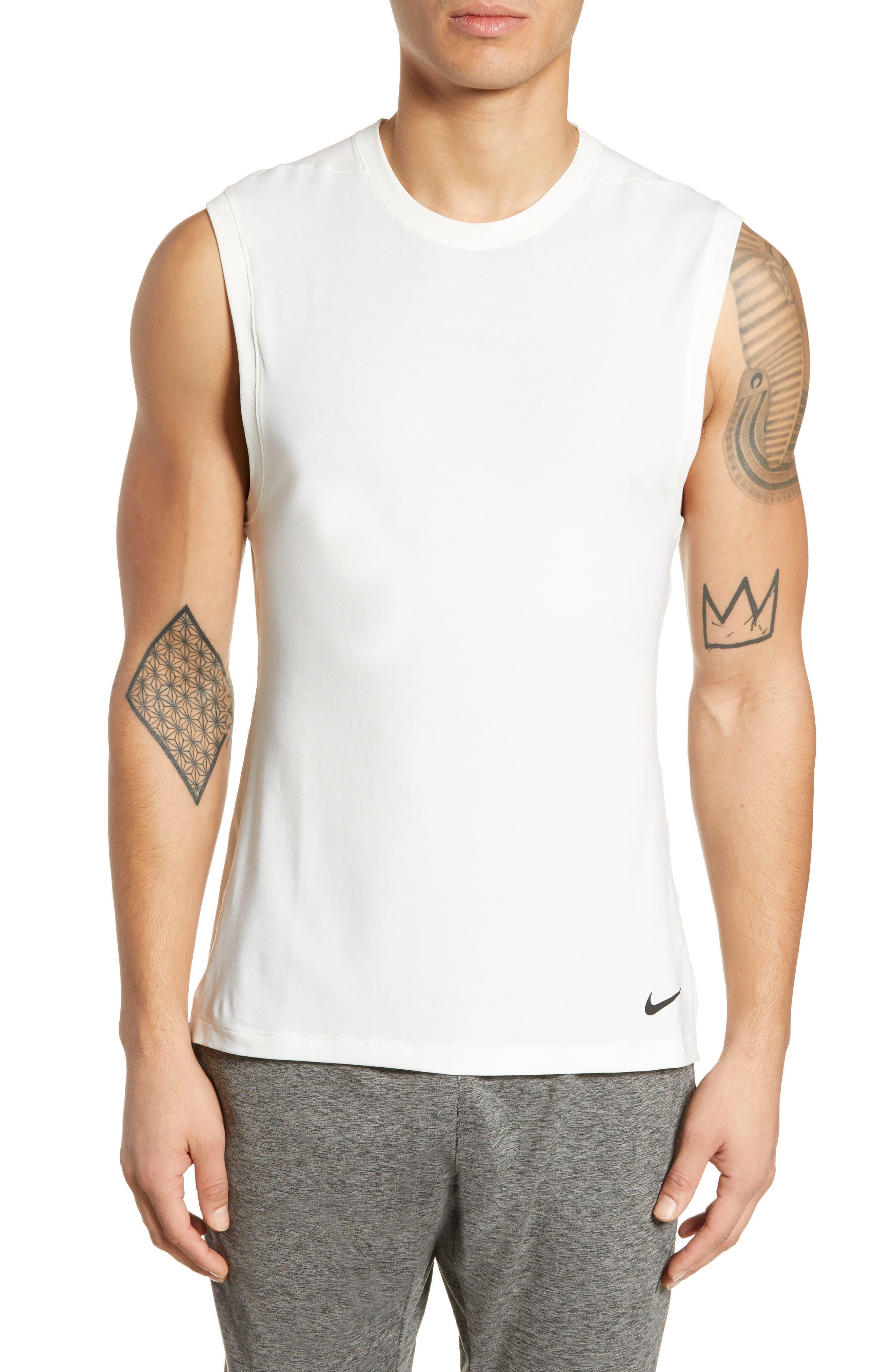Nike Dry Transcent Sleeveless T-Shirt White