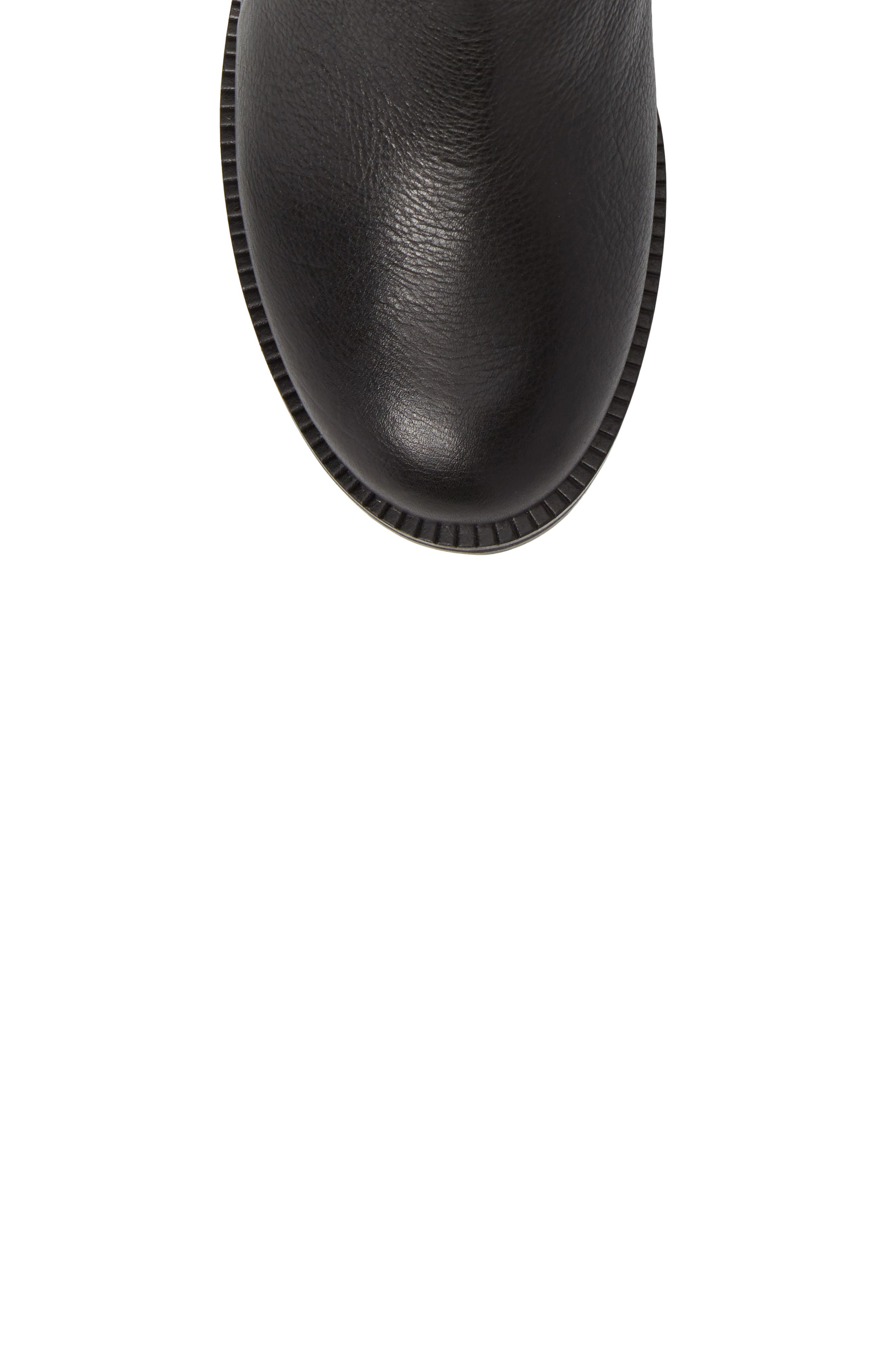 GENTLE SOULS BY KENNETH COLE, Percy Bootie, Alternate thumbnail 5, color, BLACK LEATHER