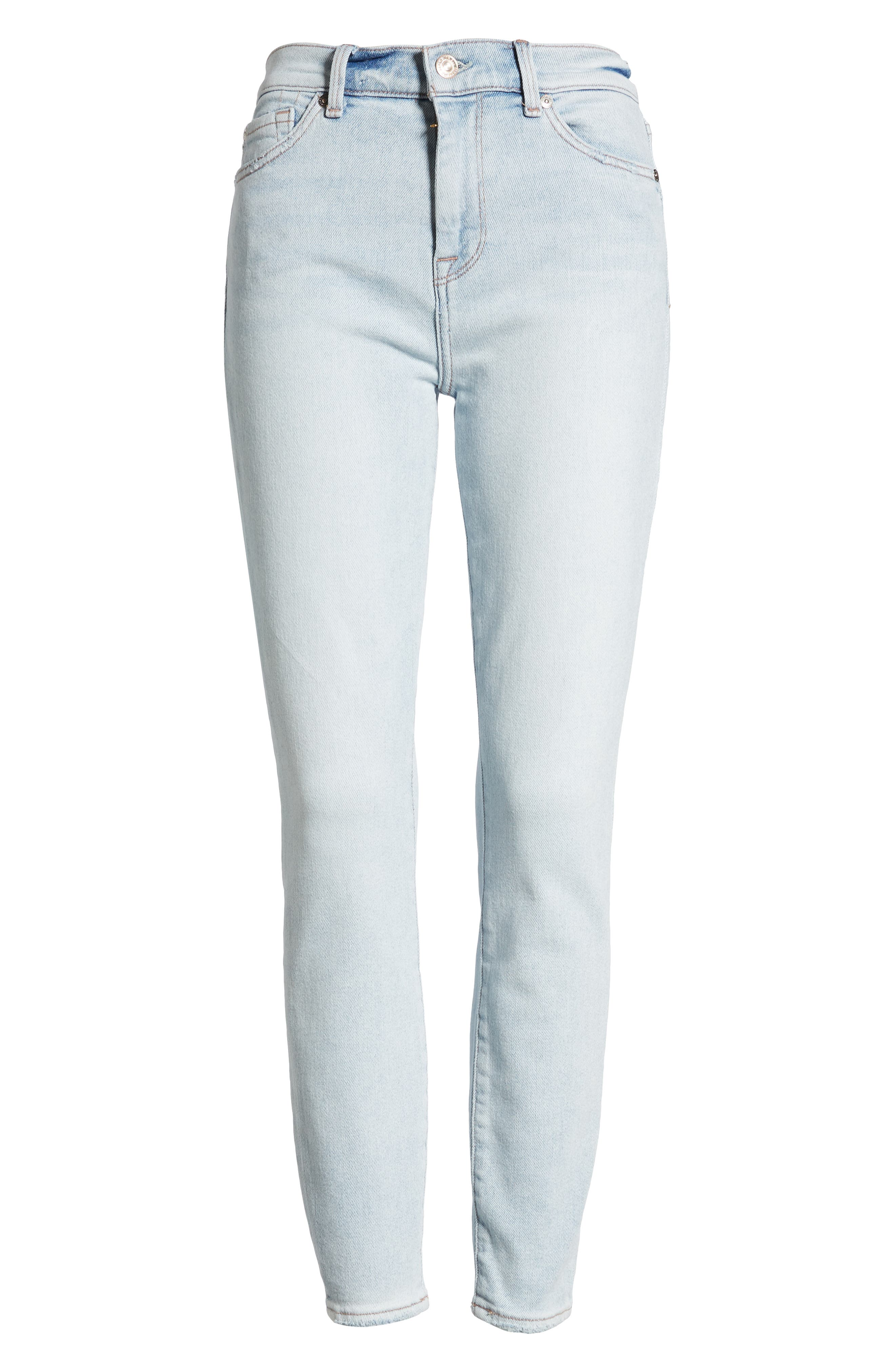 7 FOR ALL MANKIND<SUP>®</SUP>, Luxe Vintage High Waist Ankle Skinny Jeans, Alternate thumbnail 7, color, LUXE VINTAGE CLOUD