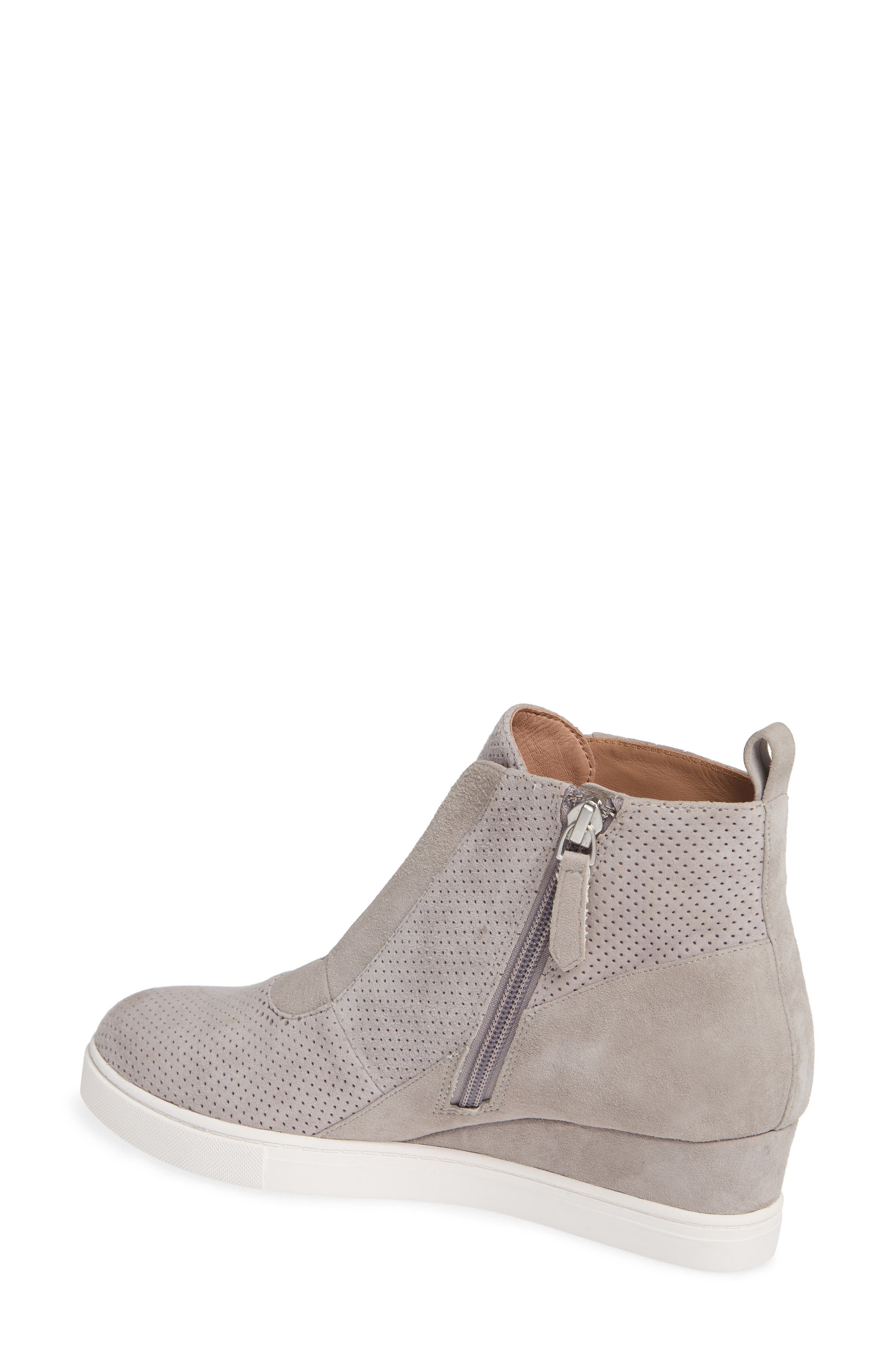 LINEA PAOLO, Anna Wedge Sneaker, Alternate thumbnail 2, color, ROCK PER SUEDE
