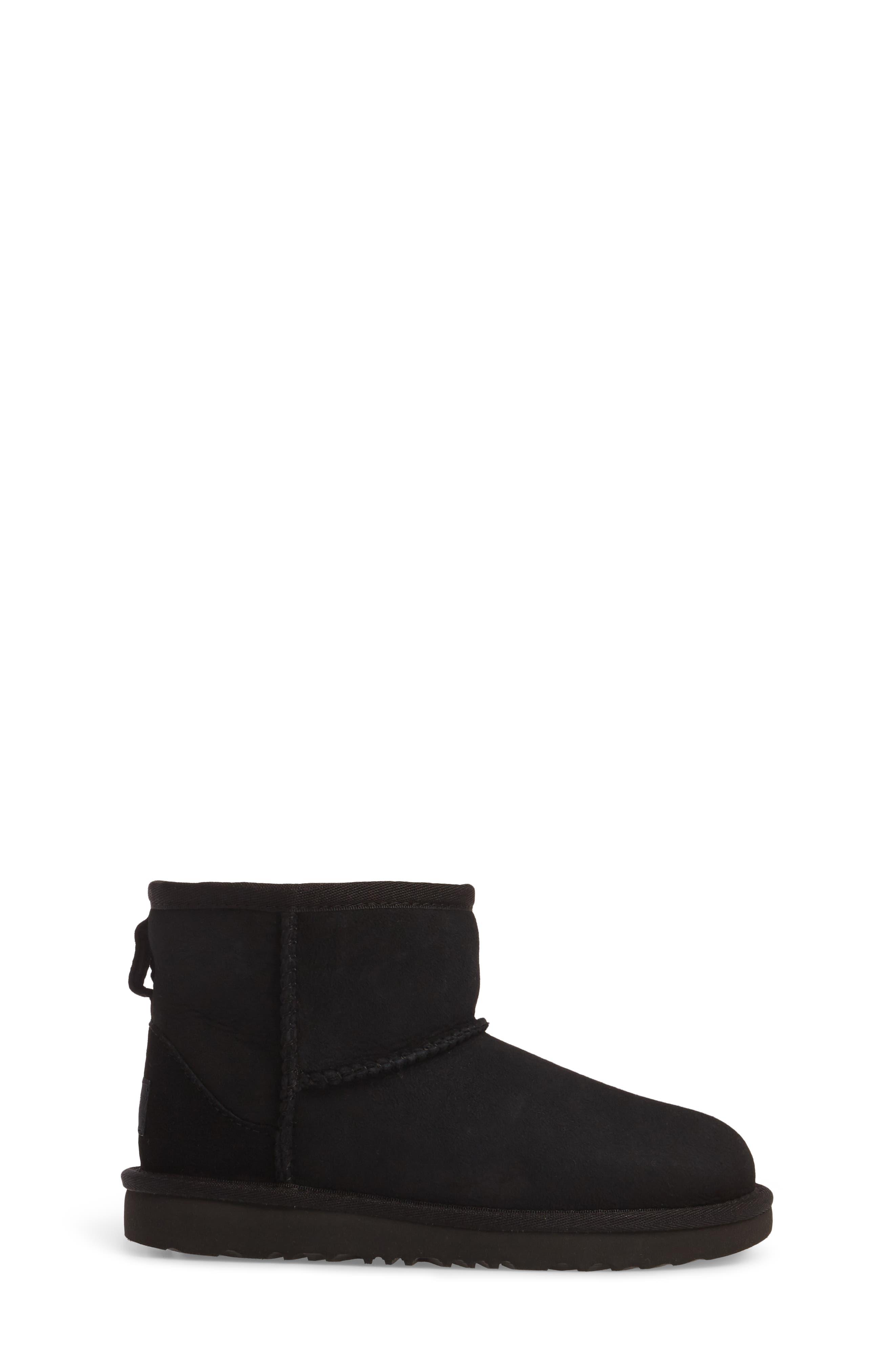 UGG<SUP>®</SUP>, Classic Mini II Water-Resistant Genuine Shearling Boot, Alternate thumbnail 3, color, BLACK