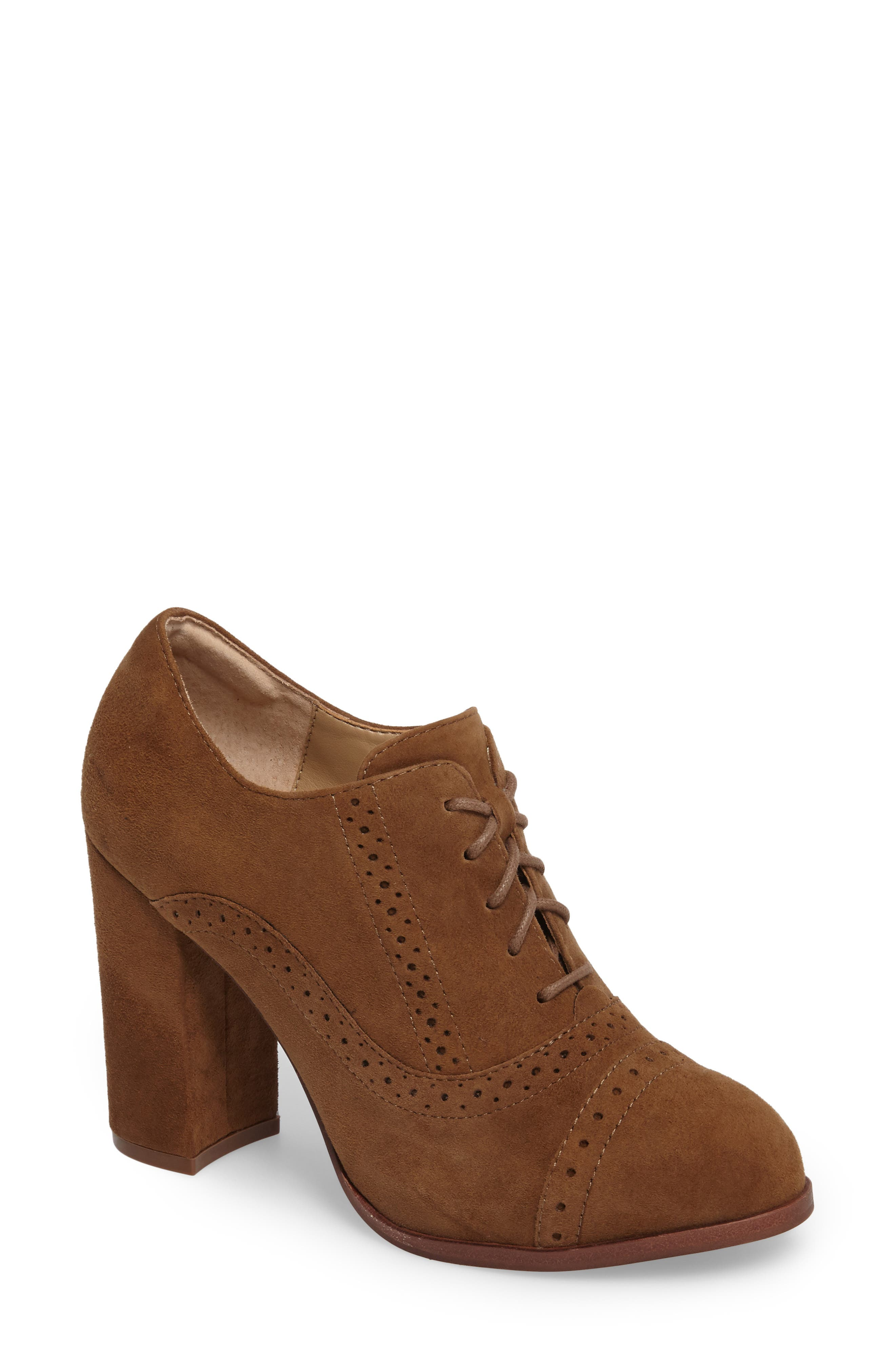 ISOLÁ, Holli Oxford Pump, Main thumbnail 1, color, LIGHT BROWN SUEDE