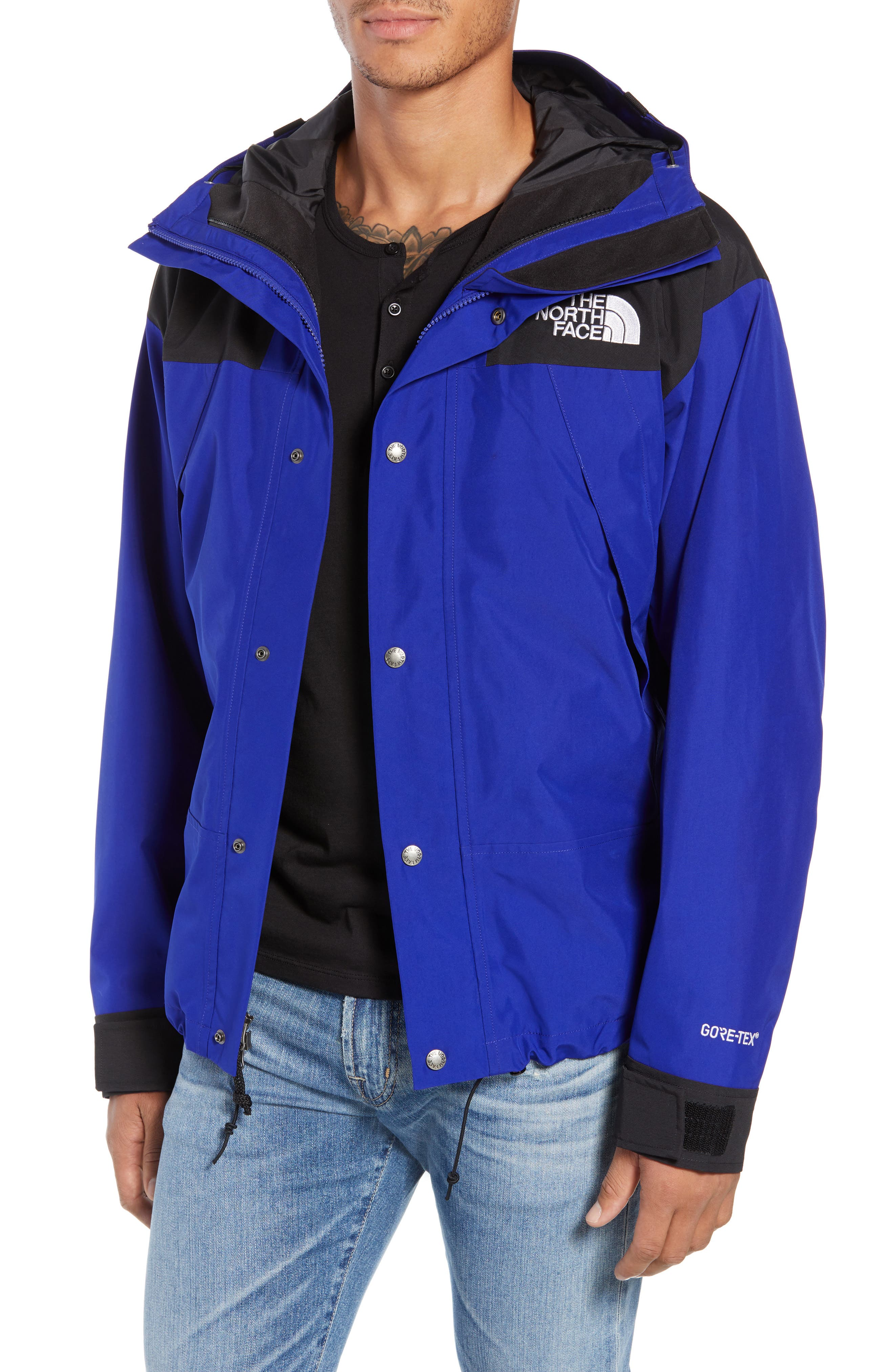 THE NORTH FACE, 1990 Mountain Hooded Jacket, Main thumbnail 1, color, AZTEC BLUE