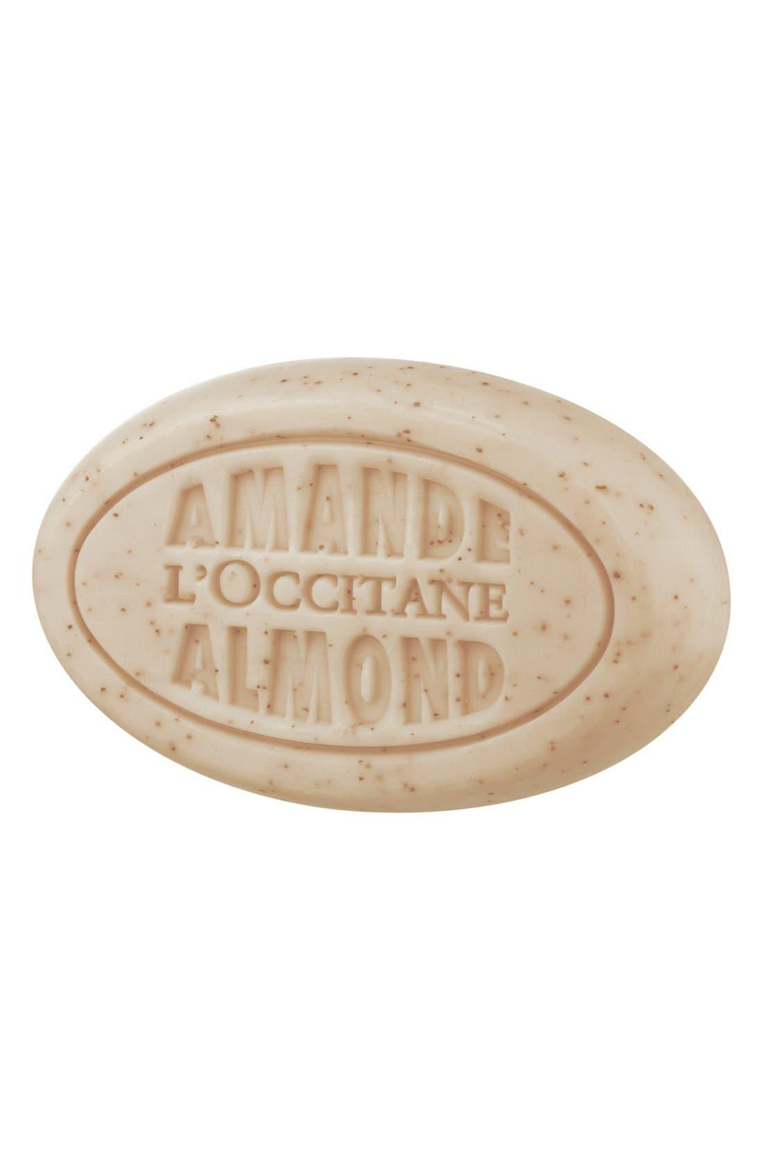 L'OCCITANE Almond Delicious Soap, Main, color, NO COLOR