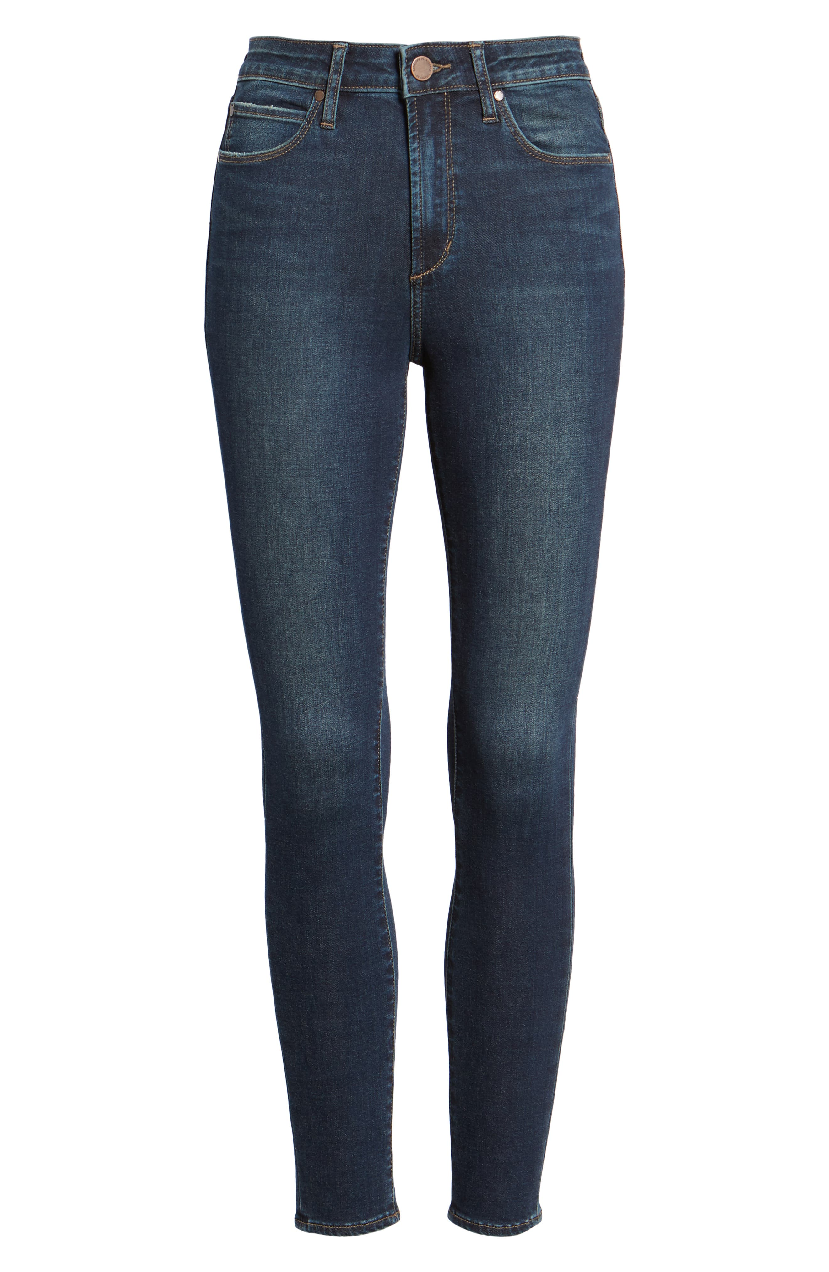 ARTICLES OF SOCIETY, Heather High Waist Ankle Skinny Jeans, Alternate thumbnail 7, color, 461