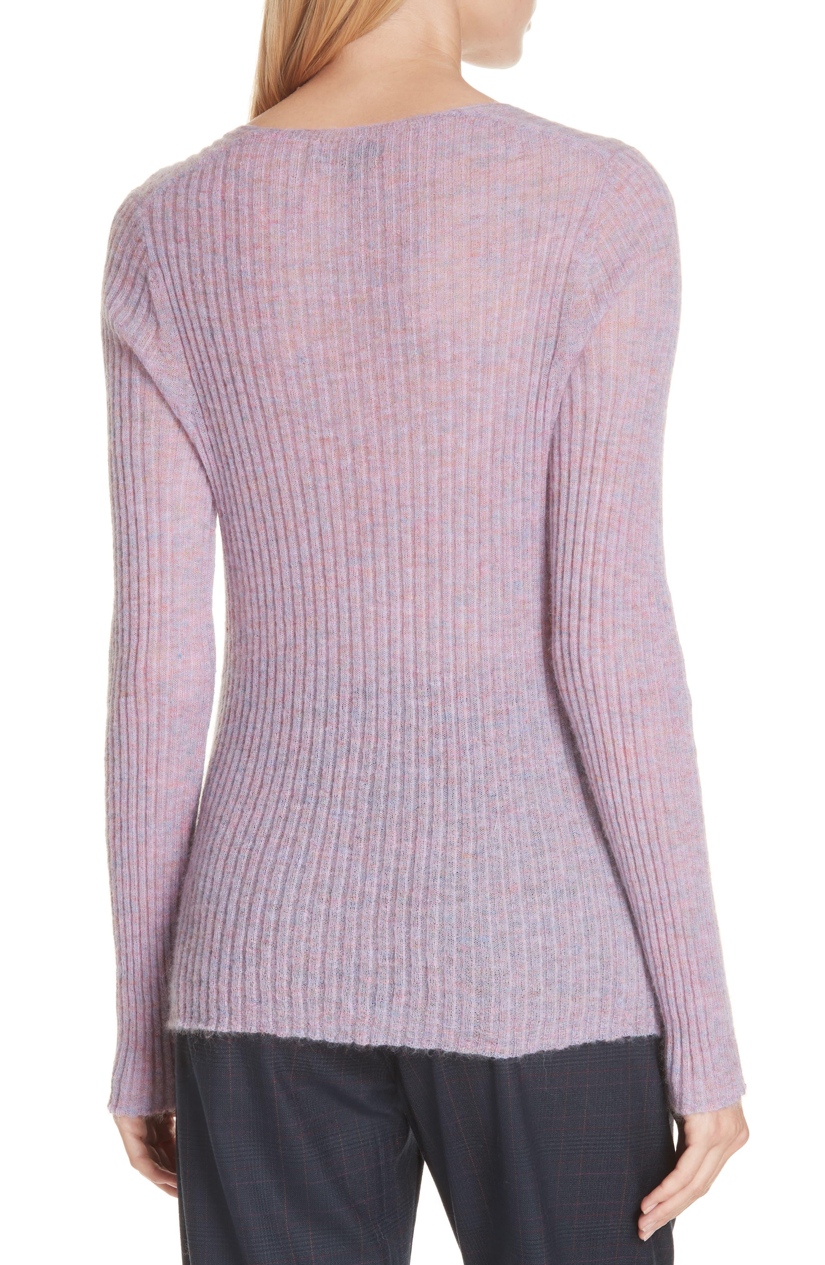 RAG & BONE, Donna Mohair Blend Sweater, Alternate thumbnail 2, color, LILAC