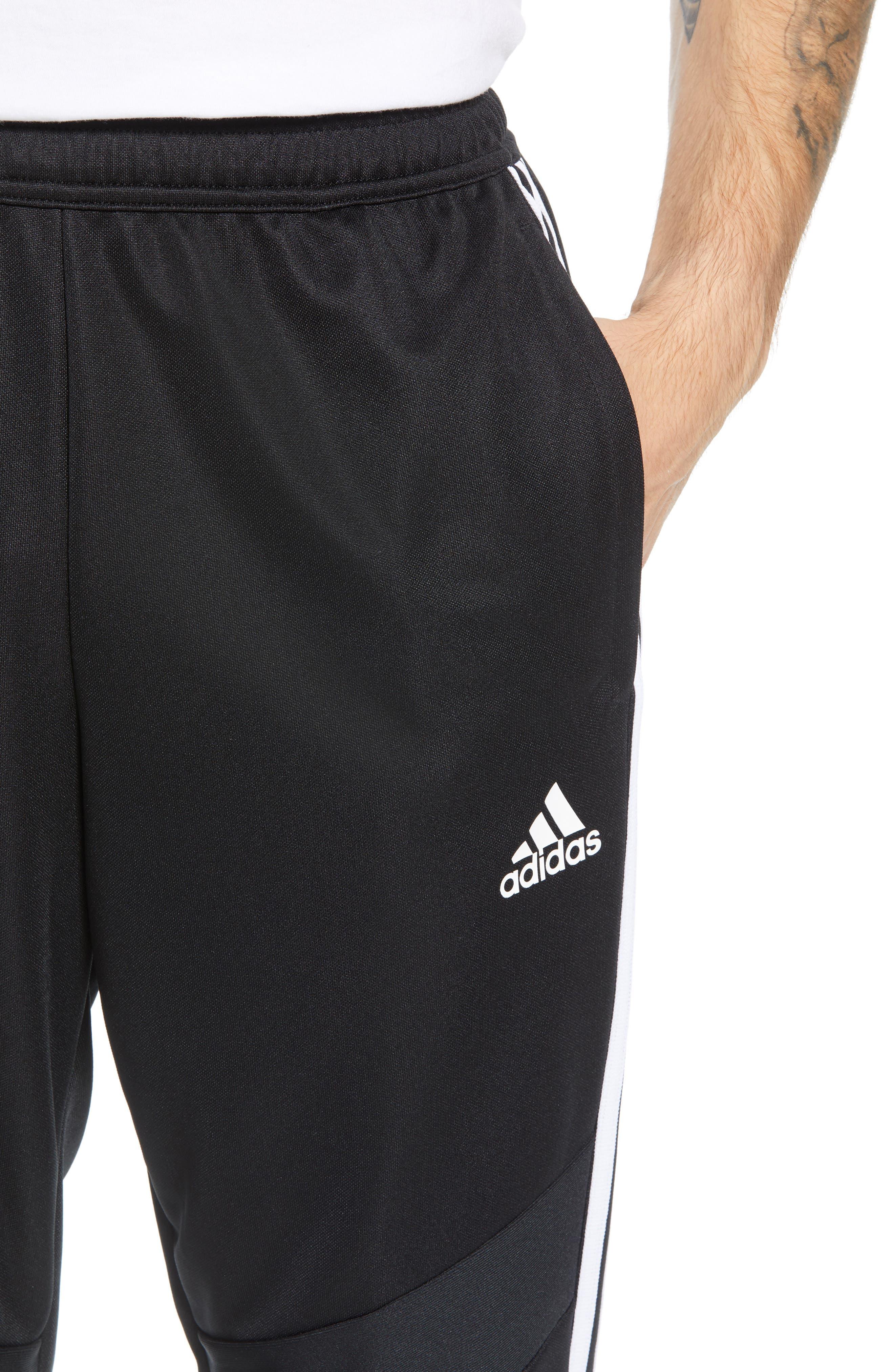 ADIDAS, Tiro Soccer Training Pants, Alternate thumbnail 5, color, BLACK/ WHITE