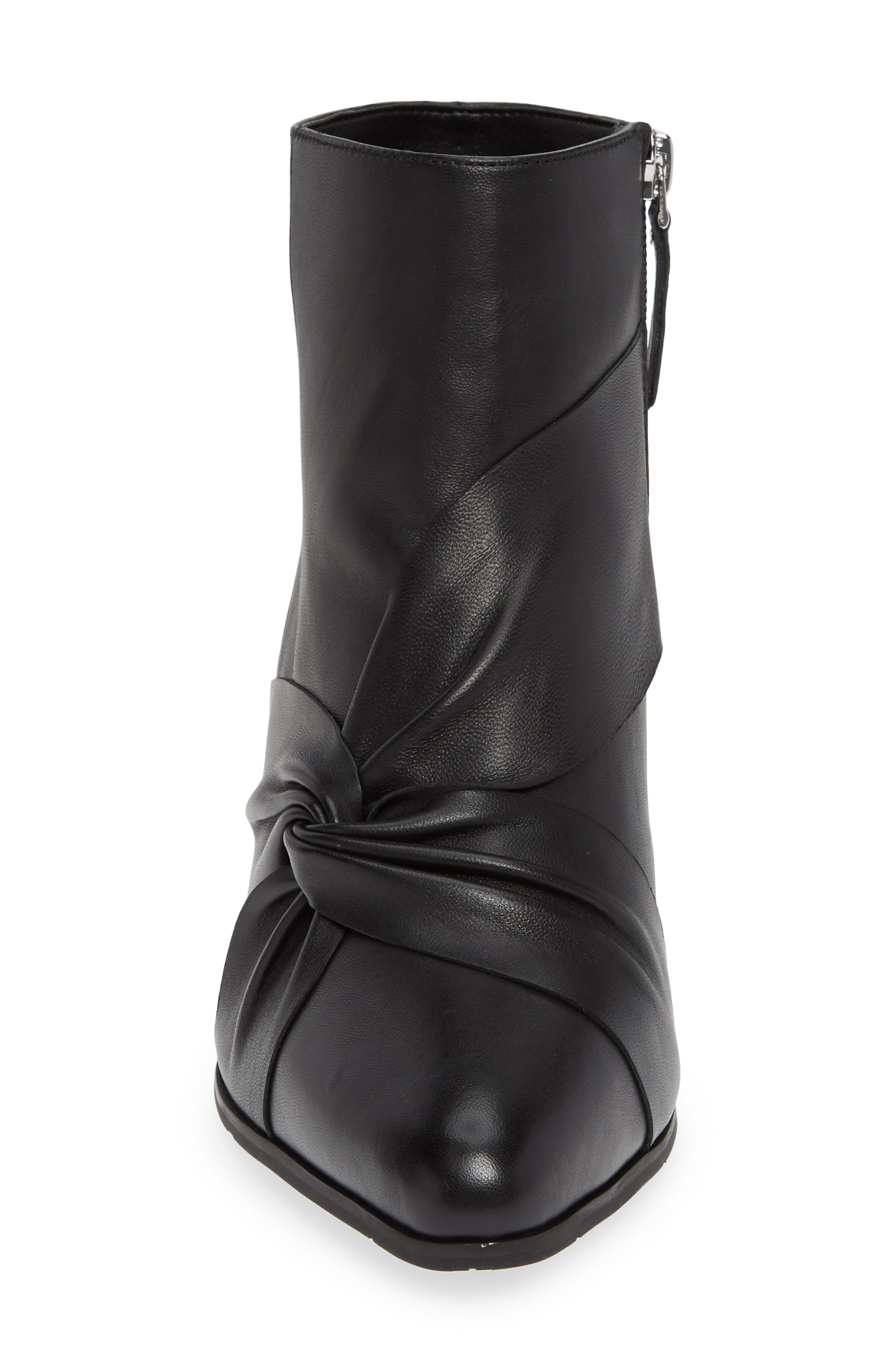NIC+ZOE, Amorie II Bootie, Alternate thumbnail 4, color, BLACK LEATHER
