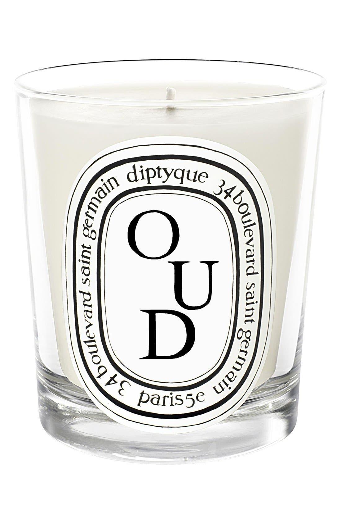 DIPTYQUE Oud Candle, Main, color, NO COLOR