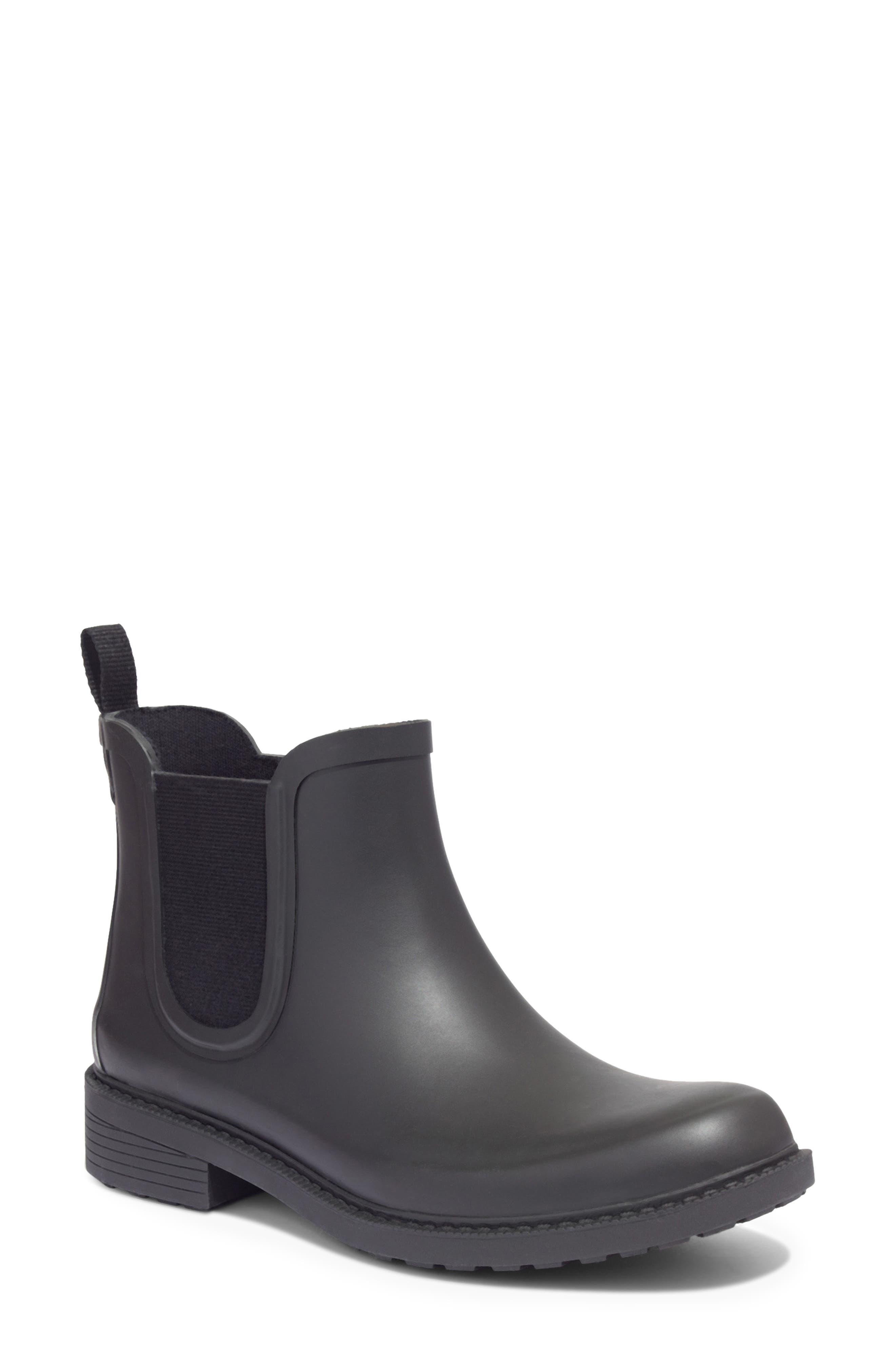 MADEWELL, The Chelsea Rain Boot, Main thumbnail 1, color, TRUE BLACK RUBBER
