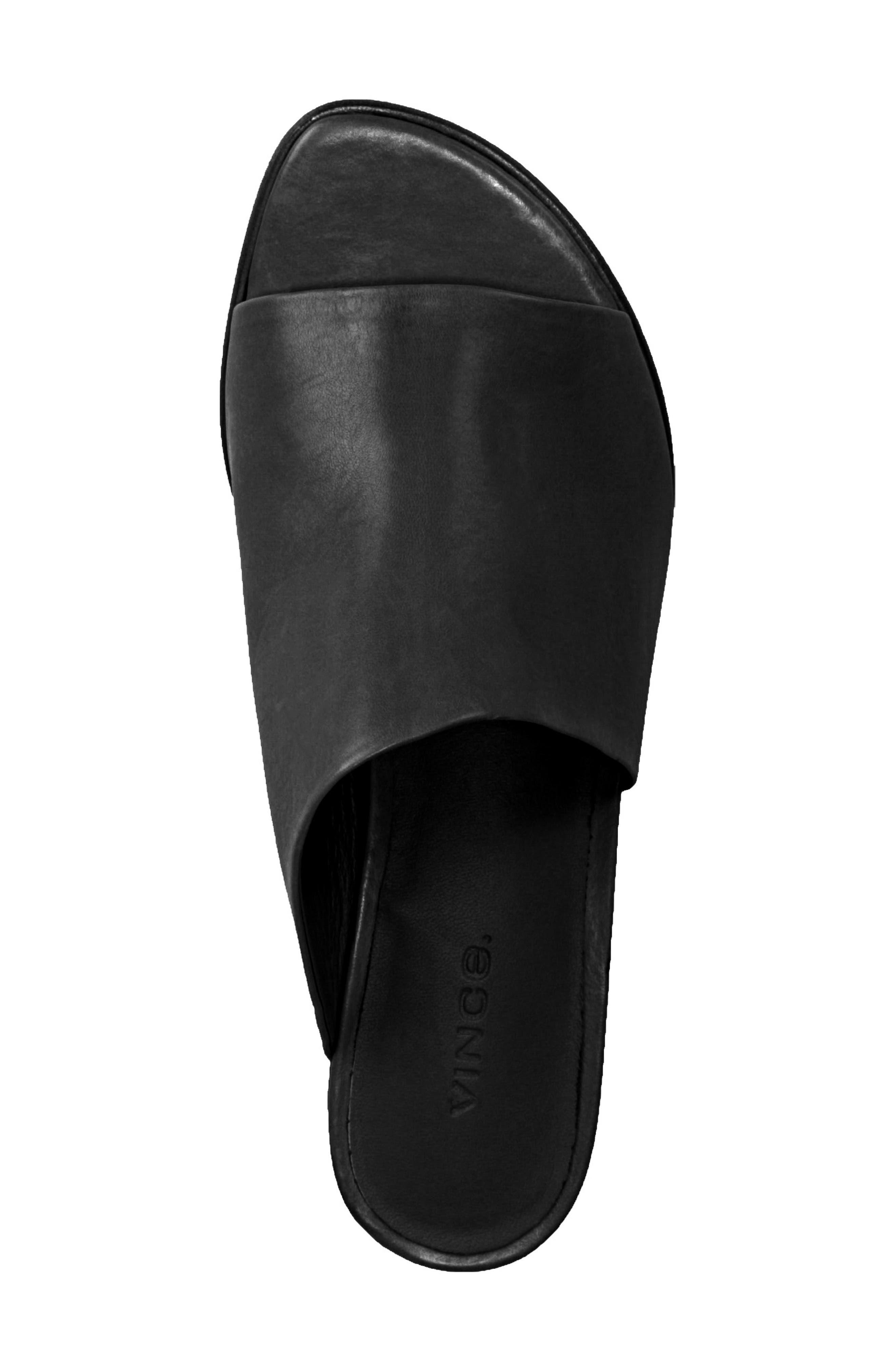 VINCE, Duvall Asymmetrical Wedge Sandal, Alternate thumbnail 5, color, BLACK