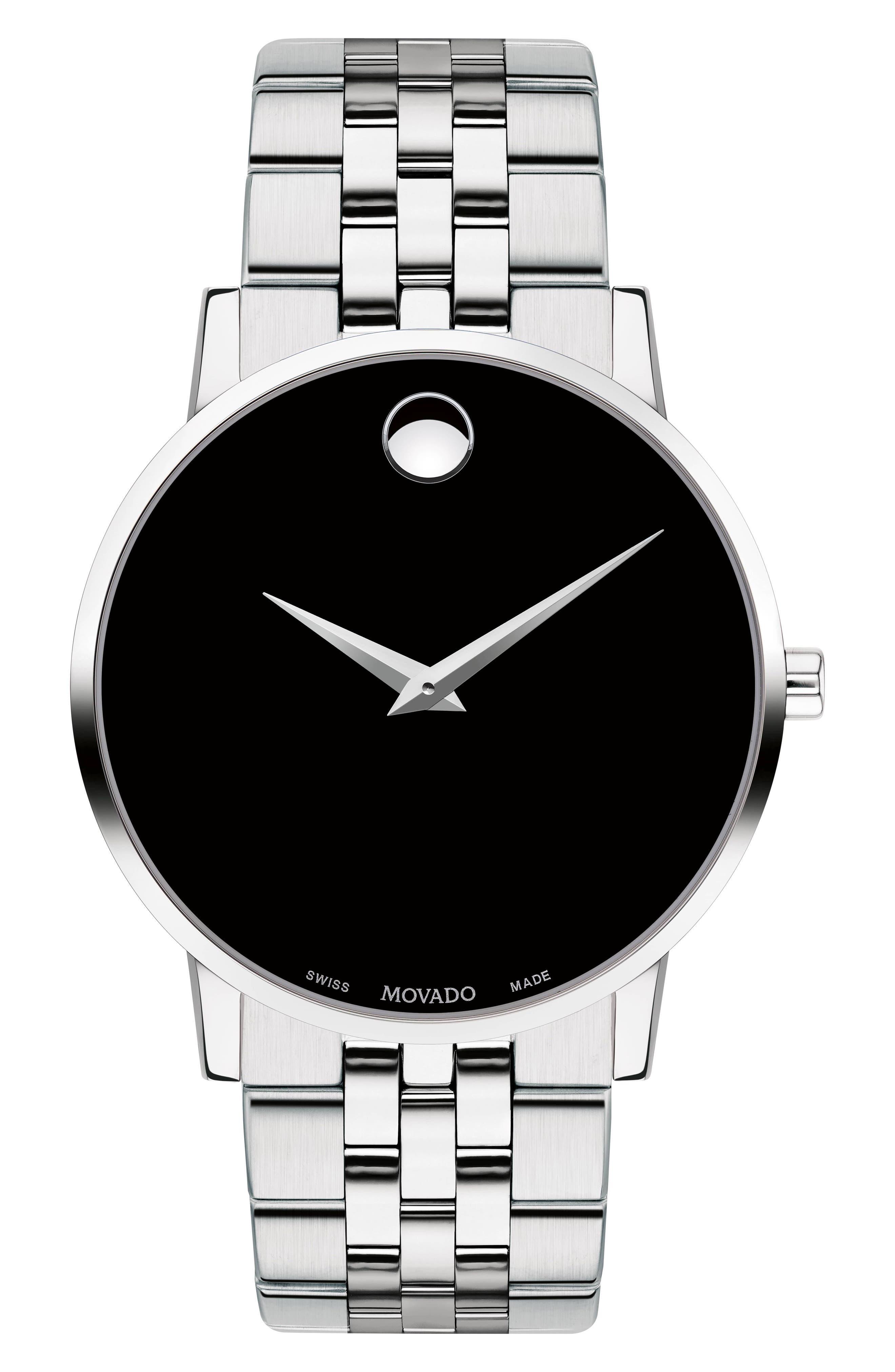 MOVADO, Bracelet Watch, 40mm, Main thumbnail 1, color, 040
