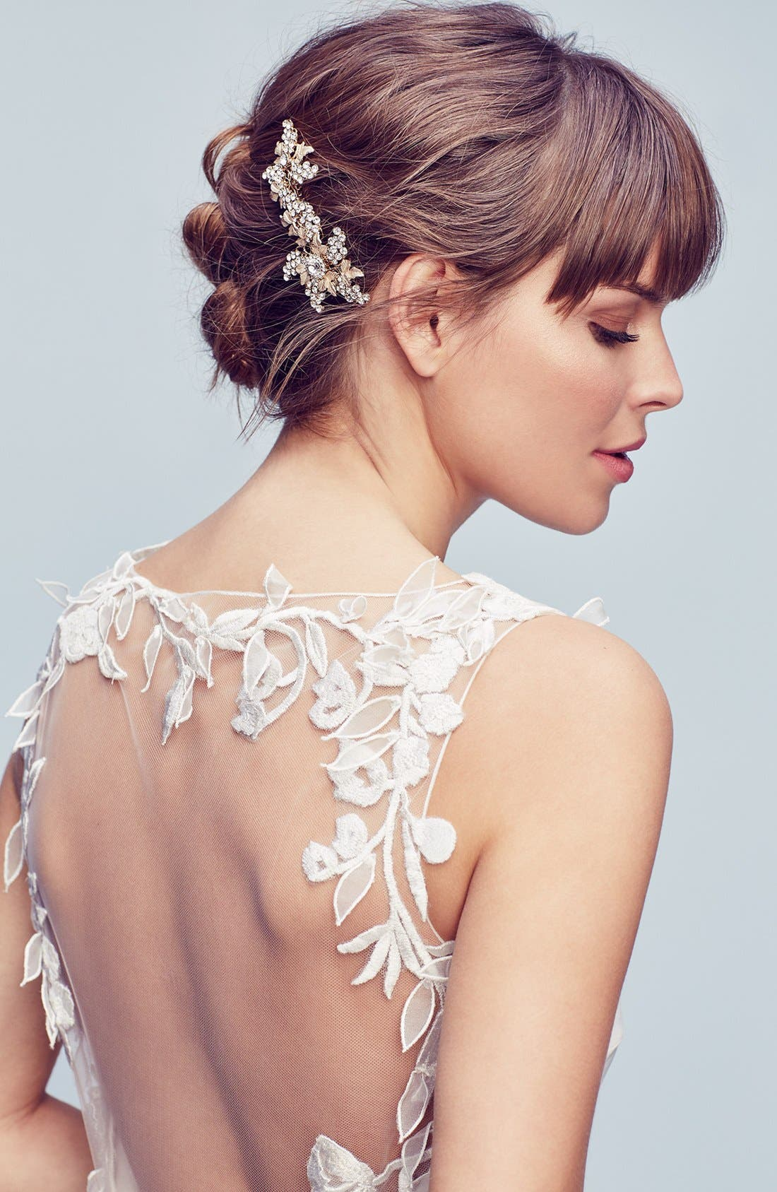 WEDDING BELLES NEW YORK, 'Jacqueline' Hair Comb, Alternate thumbnail 3, color, SILVER