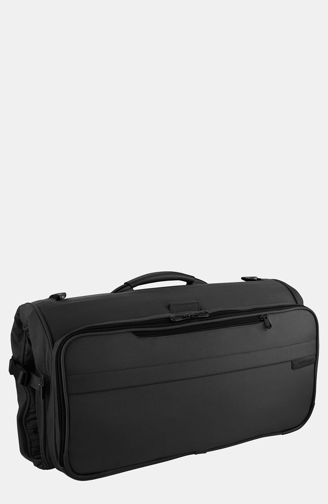 BRIGGS & RILEY, Baseline - Compact Garment Bag, Main thumbnail 1, color, BLACK